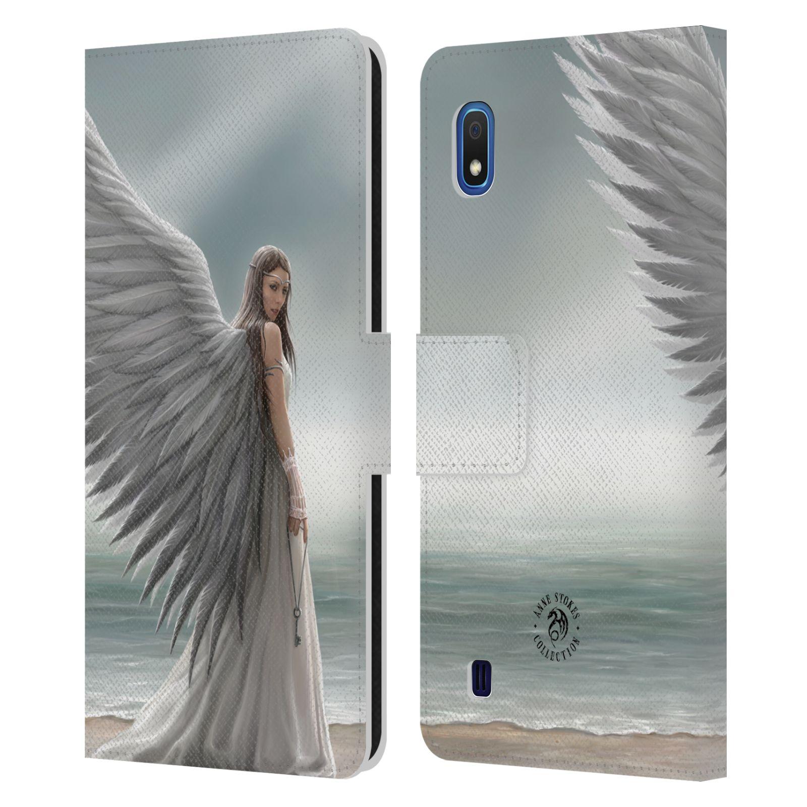 Pouzdro na mobil Samsung Galaxy A10 - Head Case - fantasy - anděl na pláži