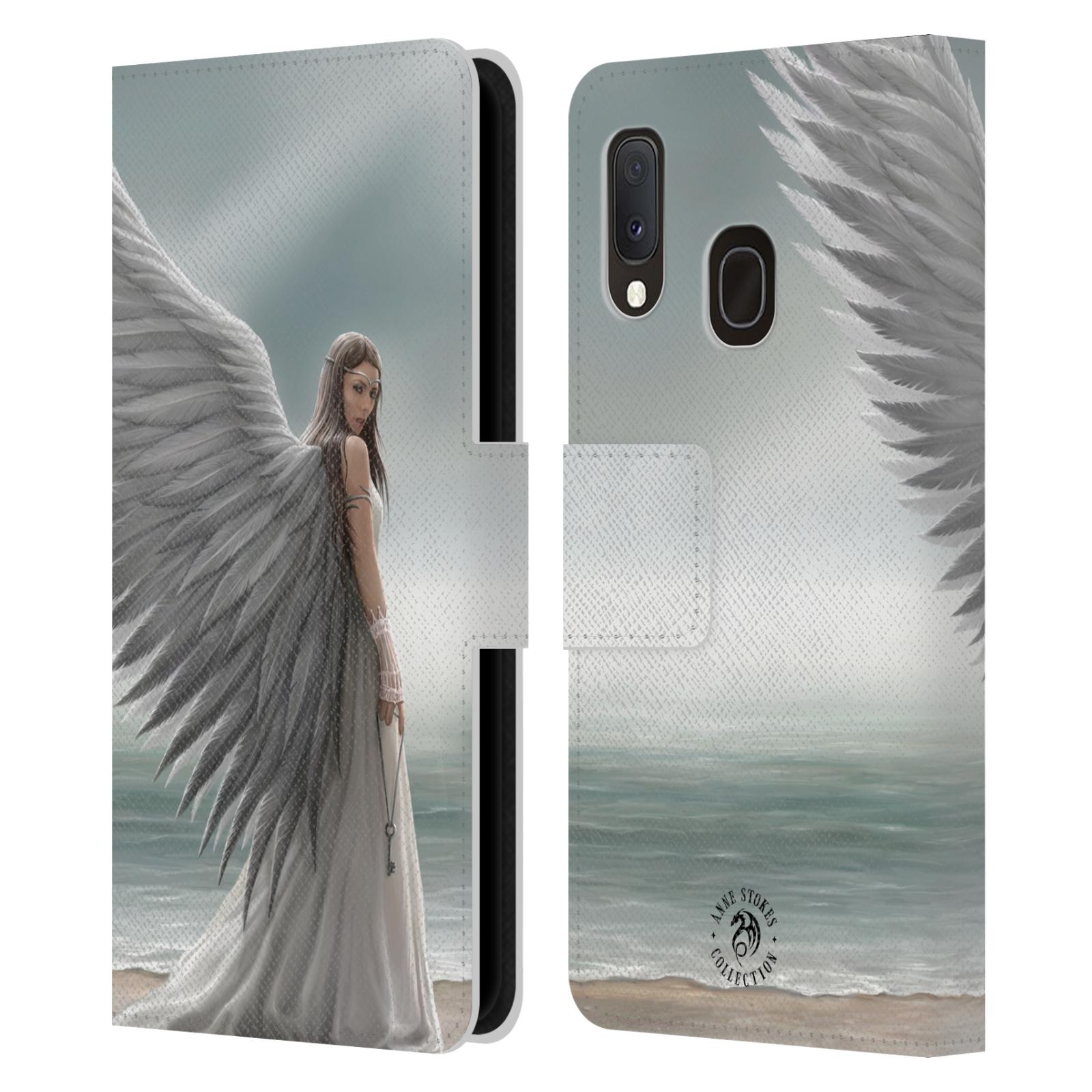 Pouzdro na mobil Samsung Galaxy A20e - Head Case - fantasy - anděl na pláži