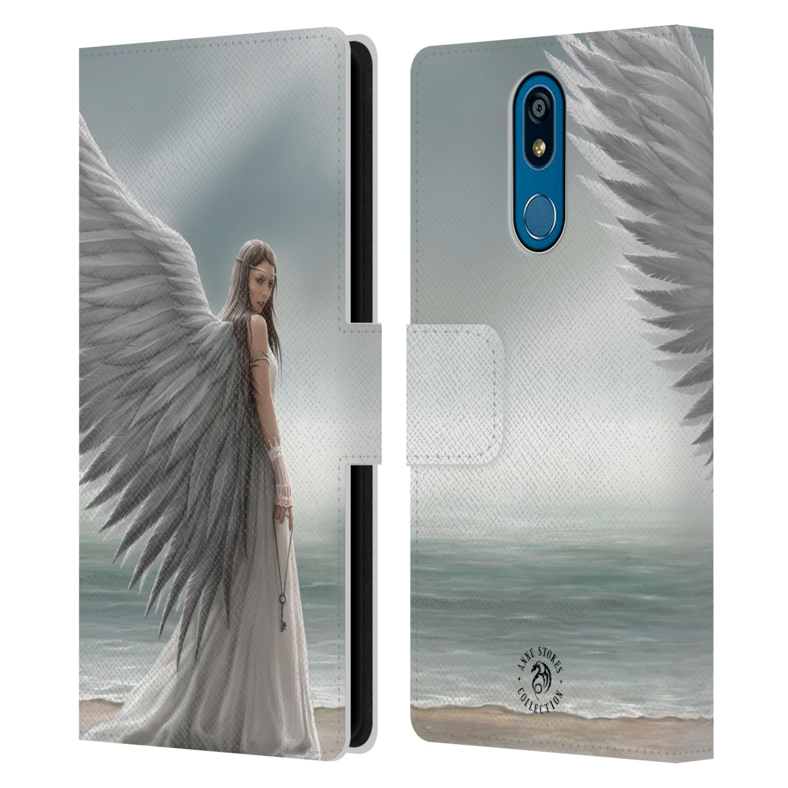 Pouzdro na mobil LG K40 - Head Case - fantasy - anděl na pláži