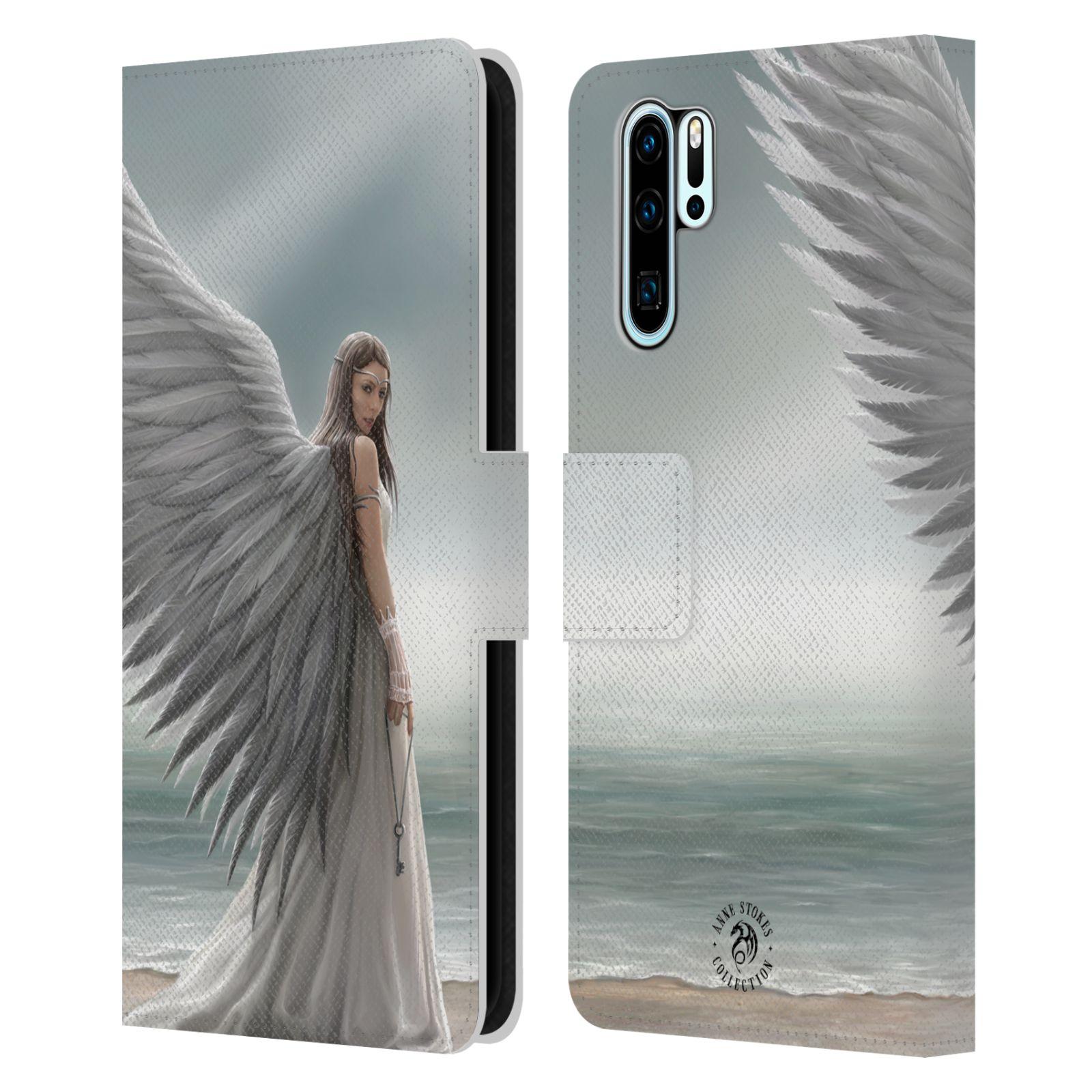 Pouzdro na mobil Huawei P30 PRO - Head Case - fantasy - anděl na pláži