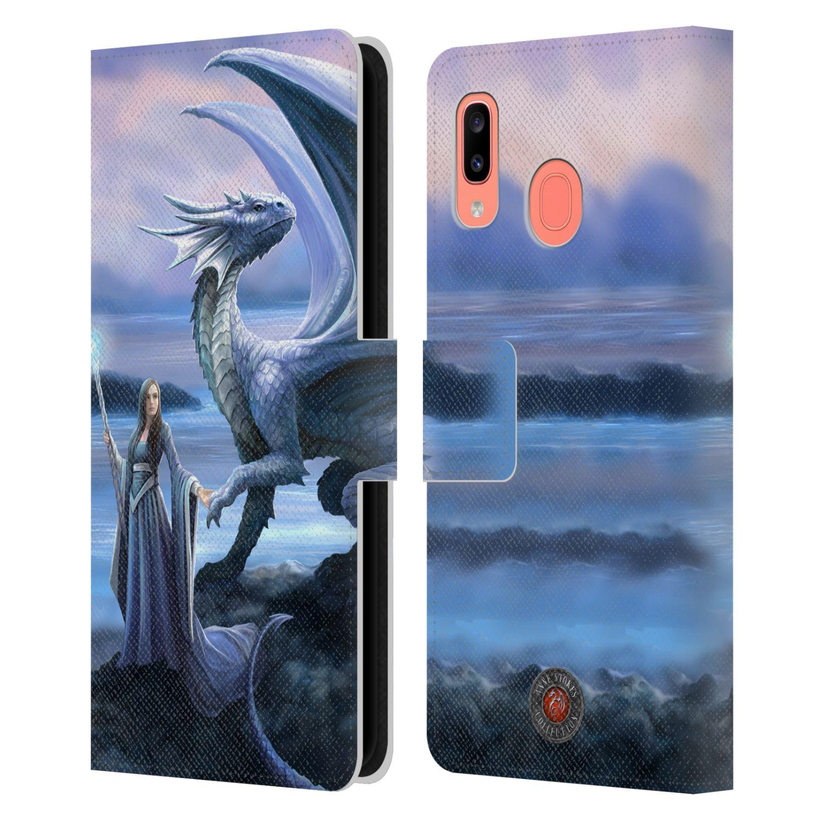 Pouzdro na mobil Samsung Galaxy A20 - Head Case - fantasy - žena s drakem horizont