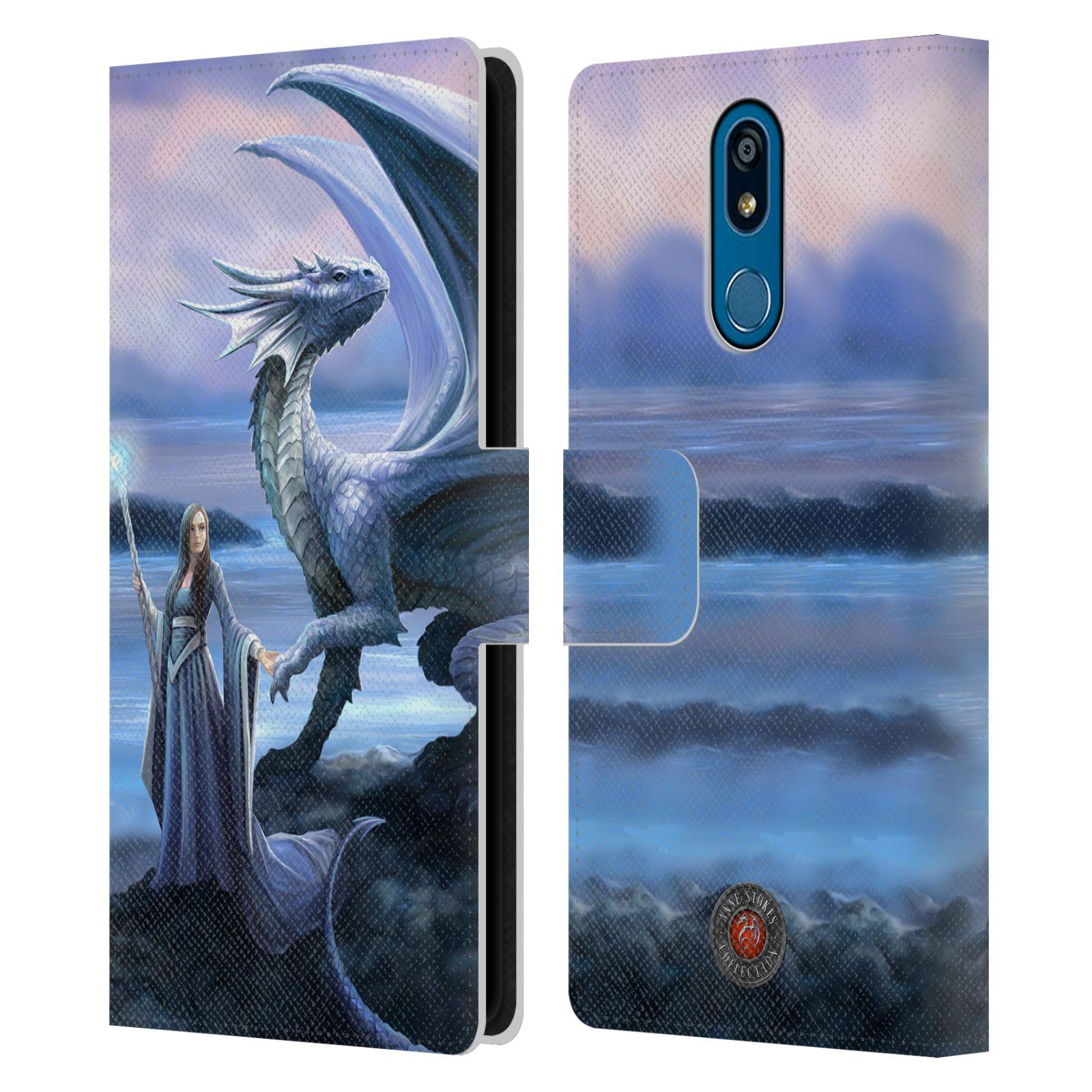 Pouzdro na mobil LG K40 - Head Case - fantasy - žena s drakem horizont