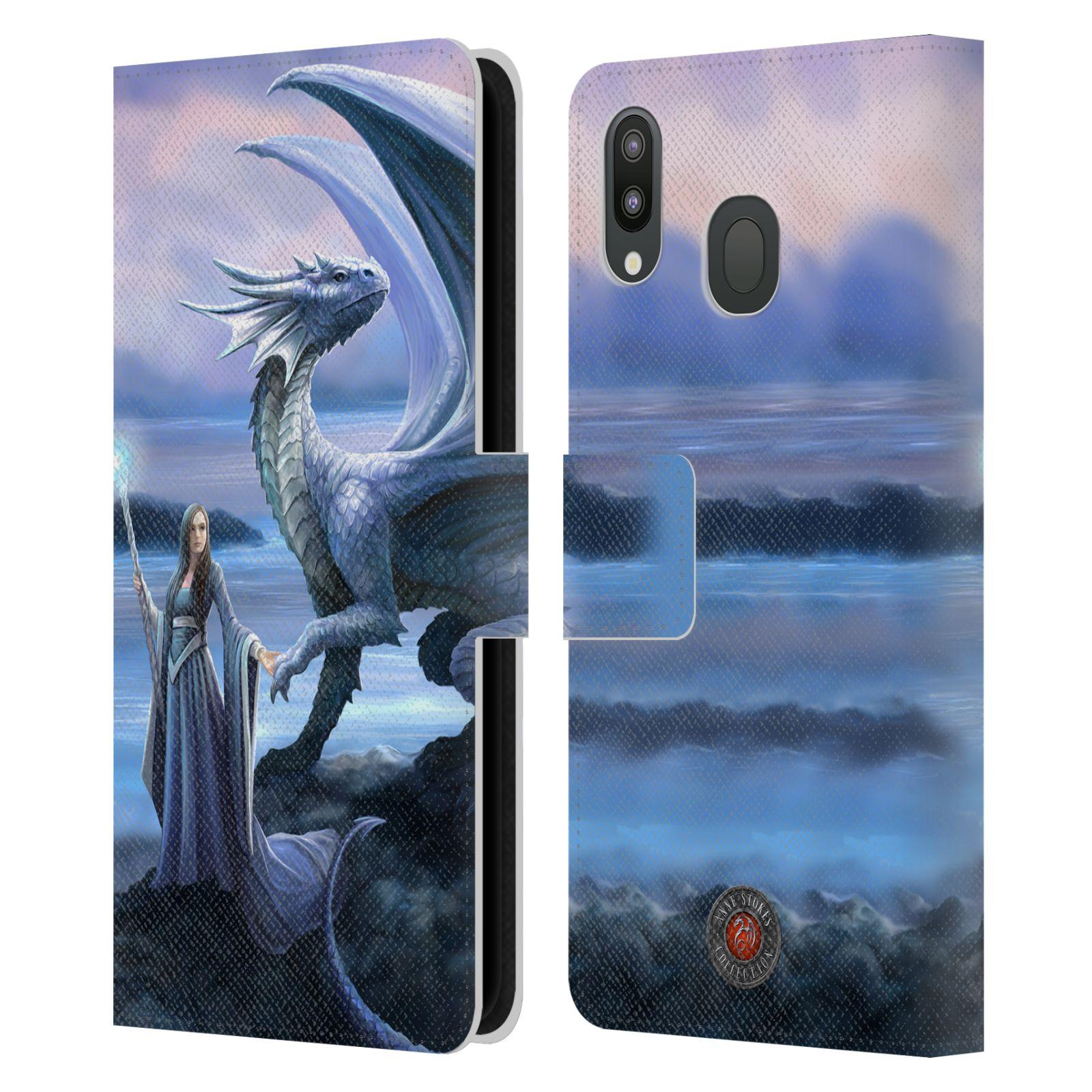 Pouzdro na mobil Samsung Galaxy M20 - Head Case - fantasy - žena s drakem horizont