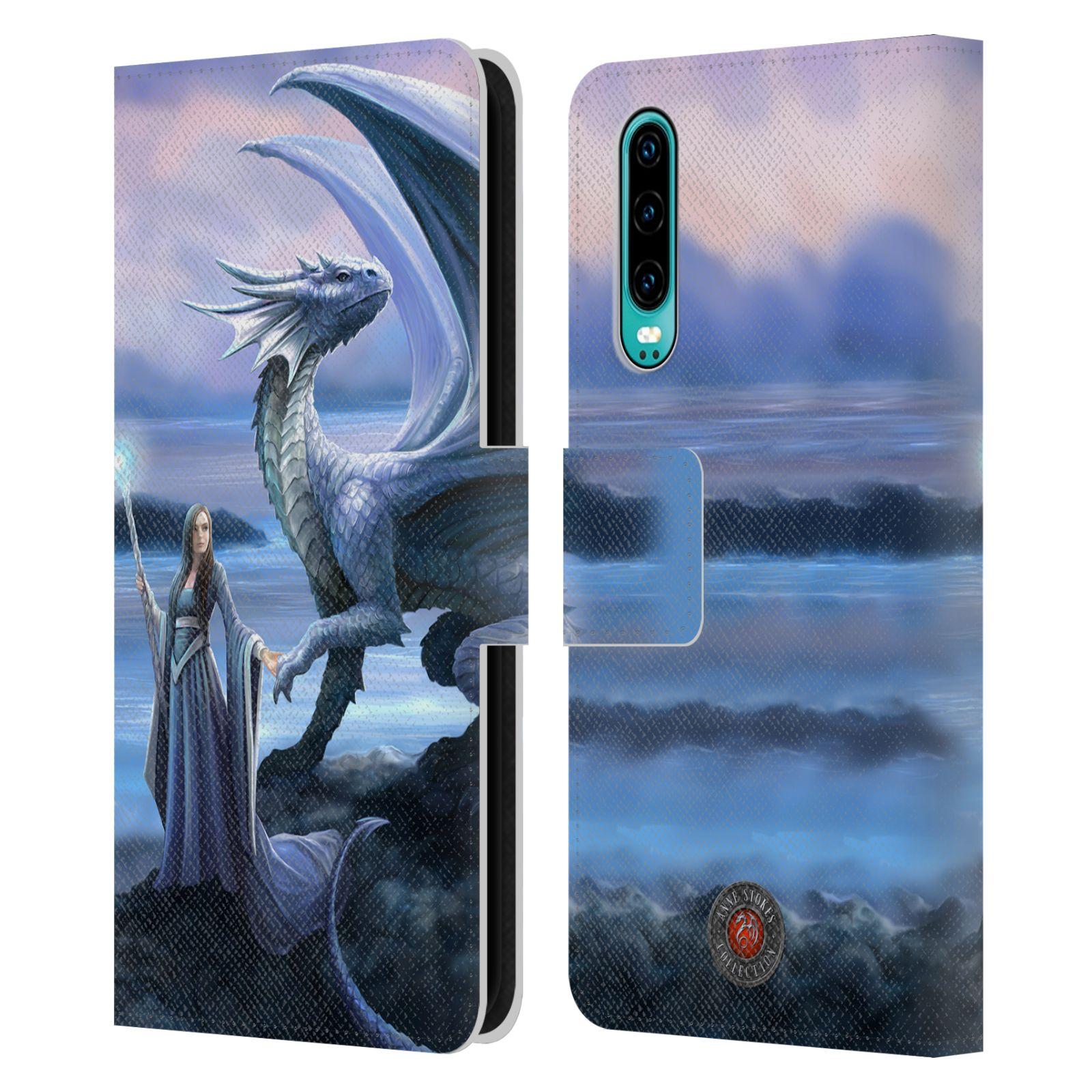 Pouzdro na mobil Huawei P30 - Head Case - fantasy - žena s drakem horizont