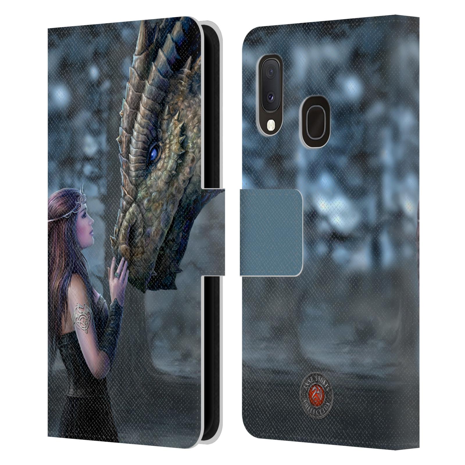 Pouzdro na mobil Samsung Galaxy A20e - Head Case - fantasy - žena dračí pohled