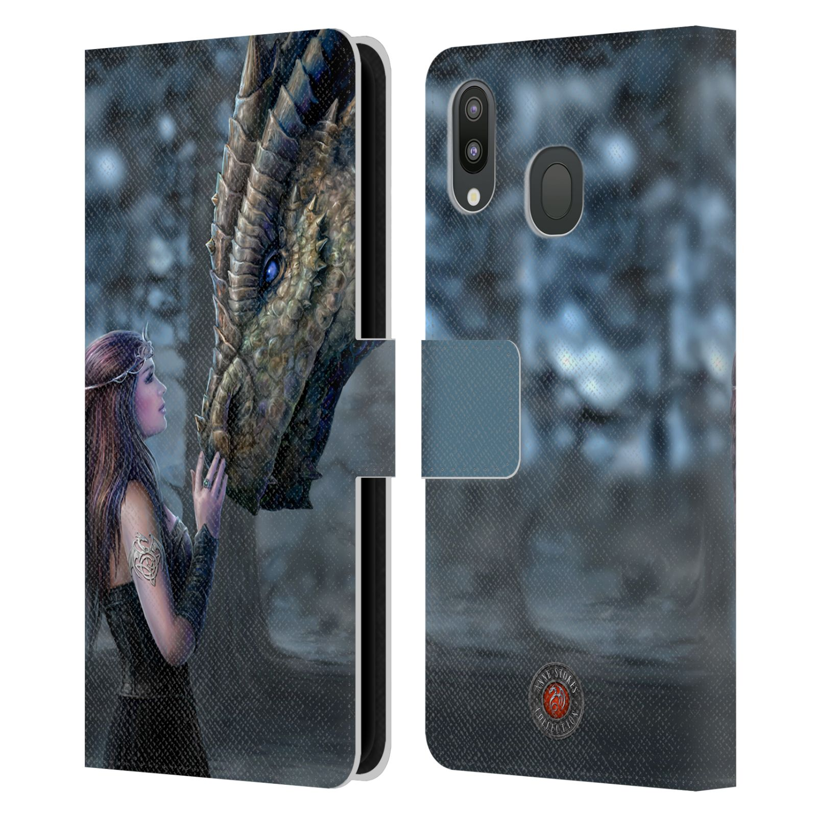 Pouzdro na mobil Samsung Galaxy M20 - Head Case - fantasy - žena dračí pohled