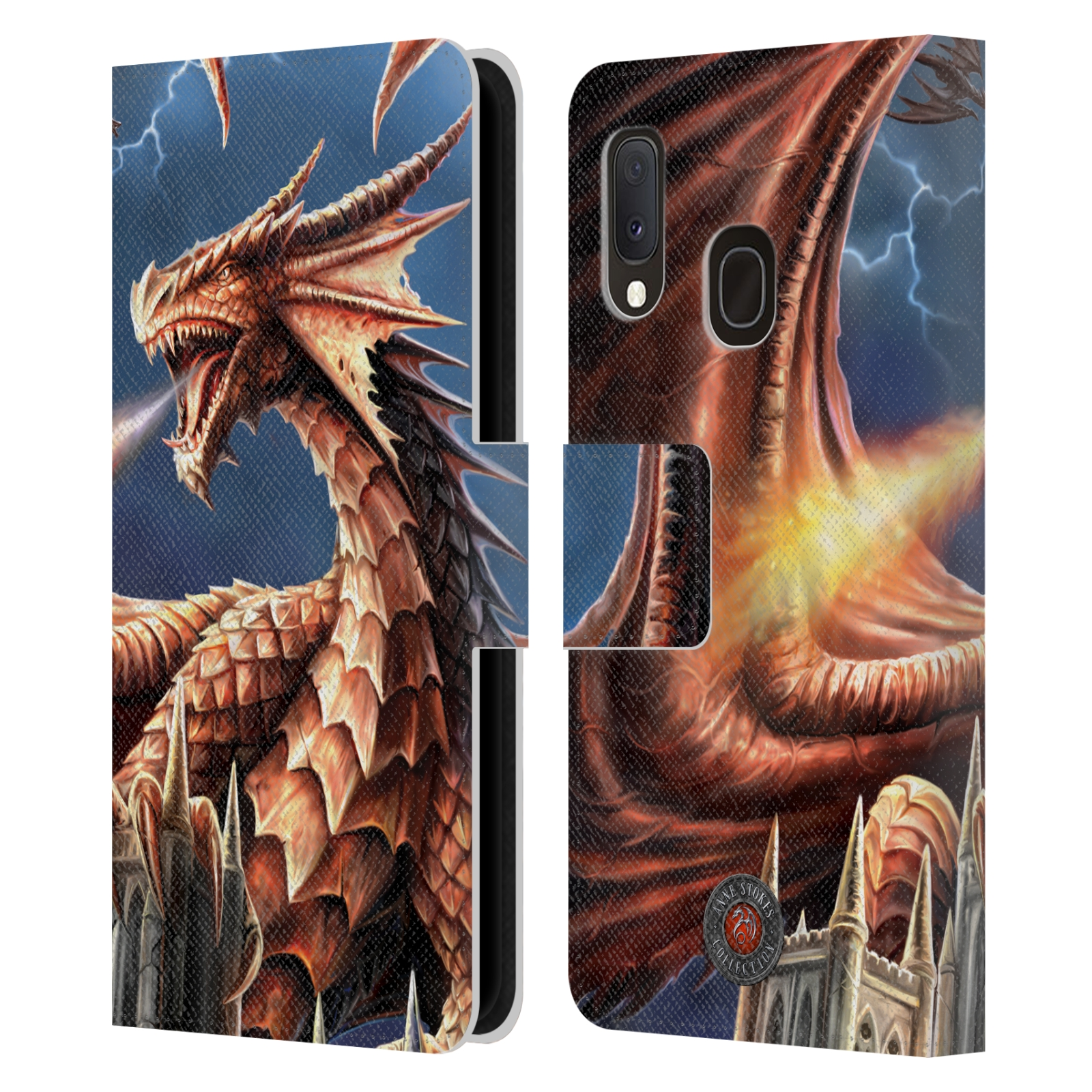 Pouzdro na mobil Samsung Galaxy A20e - Head Case - fantasy - chrlící drak