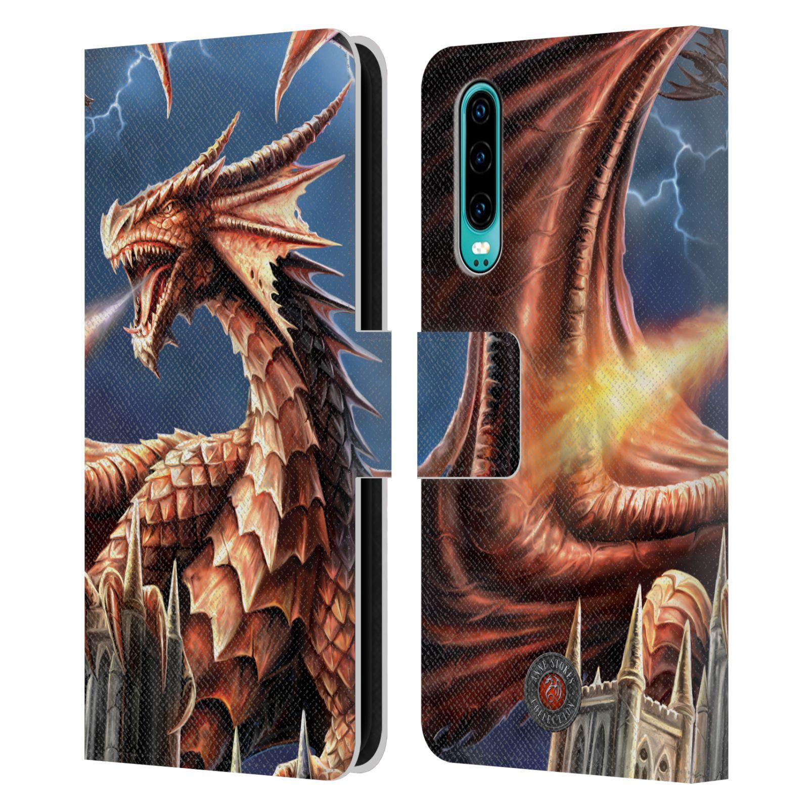 Pouzdro na mobil Huawei P30 - Head Case - fantasy - chrlící drak