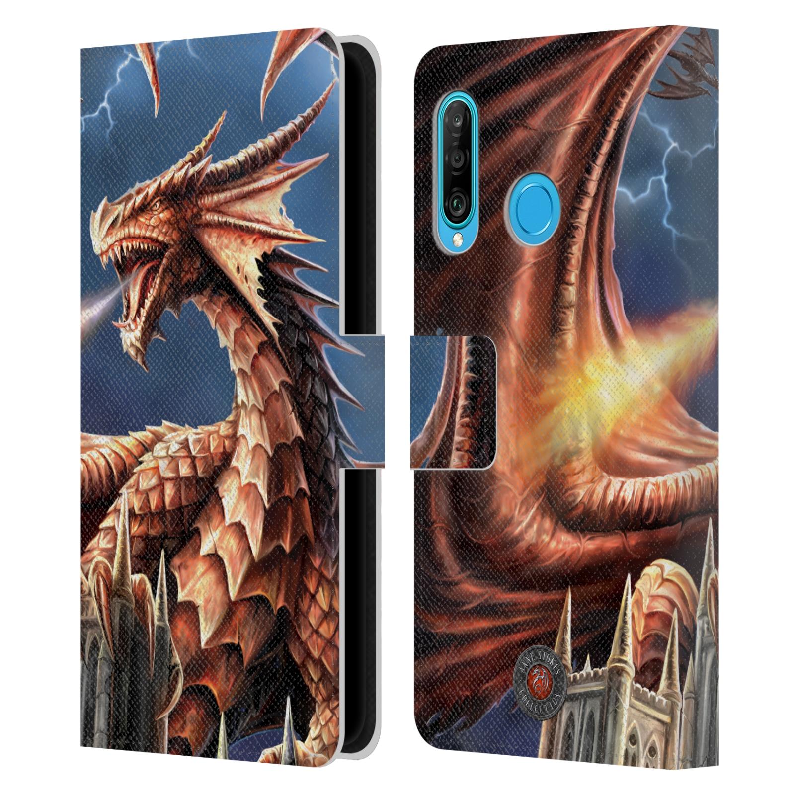 Pouzdro na mobil Huawei P30 LITE - Head Case - fantasy - chrlící drak