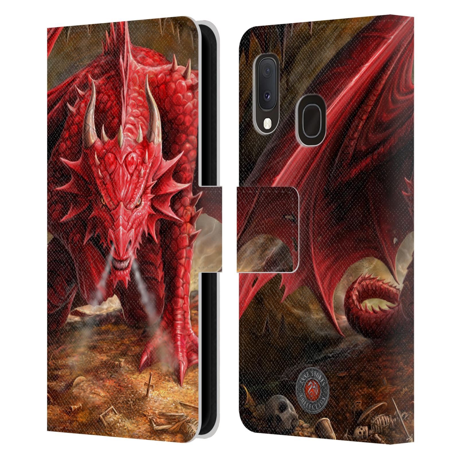 Pouzdro na mobil Samsung Galaxy A20e - Head Case - fantasy - červený drak