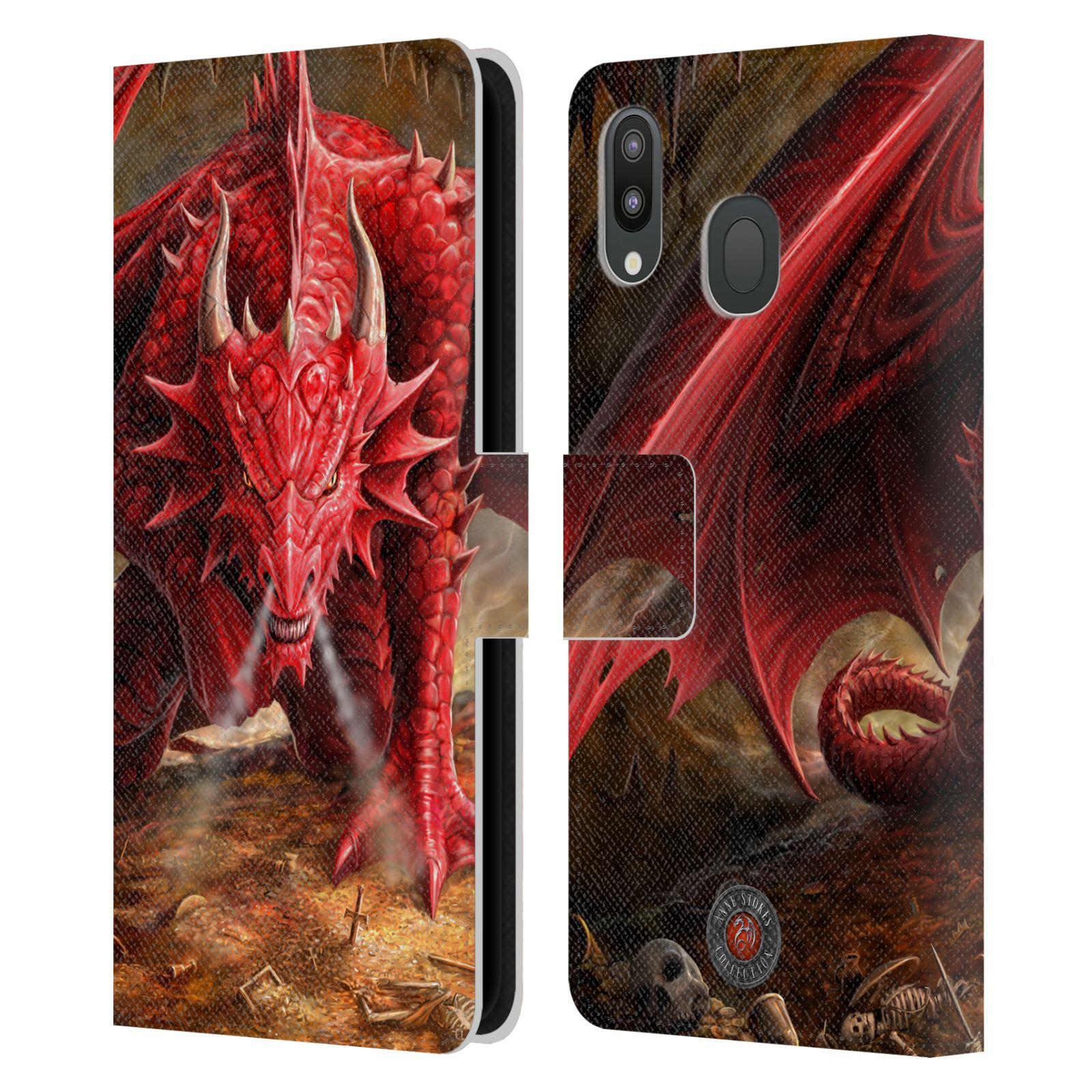 Pouzdro na mobil Samsung Galaxy M20 - Head Case - fantasy - červený drak