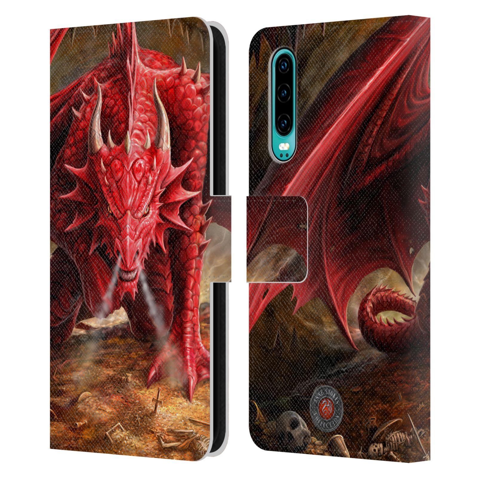 Pouzdro na mobil Huawei P30 - Head Case - fantasy - červený drak
