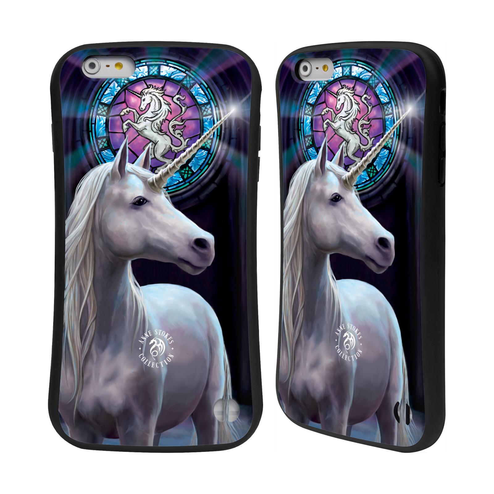 HEAD CASE silikon/plast odolný obal na mobil Apple Iphone 6 PLUS / 6S PLUS Anne Stokes kůň bílý jednorožec znak mozaika