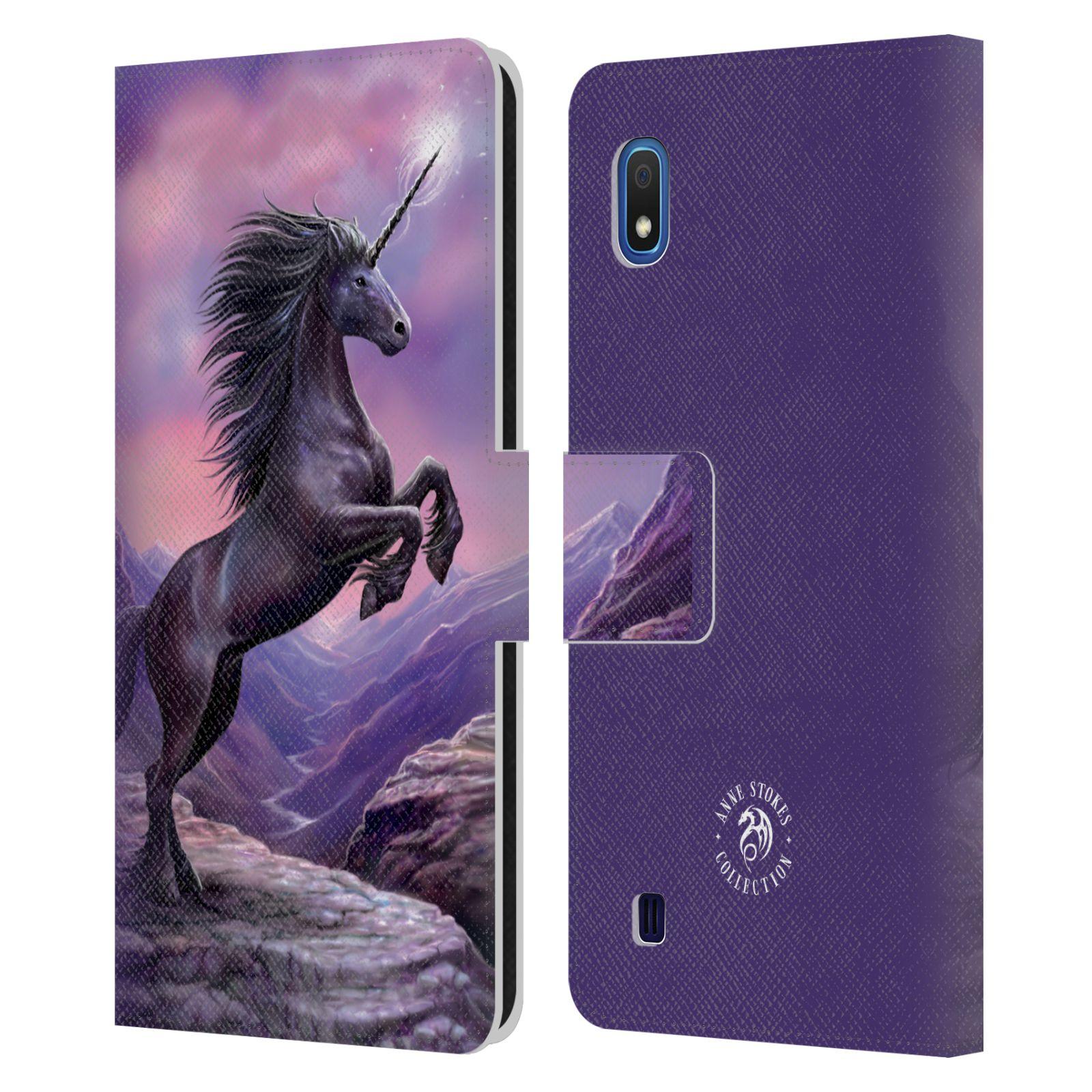Pouzdro na mobil Samsung Galaxy A10 - Head Case - fantasy - černý jednorožec