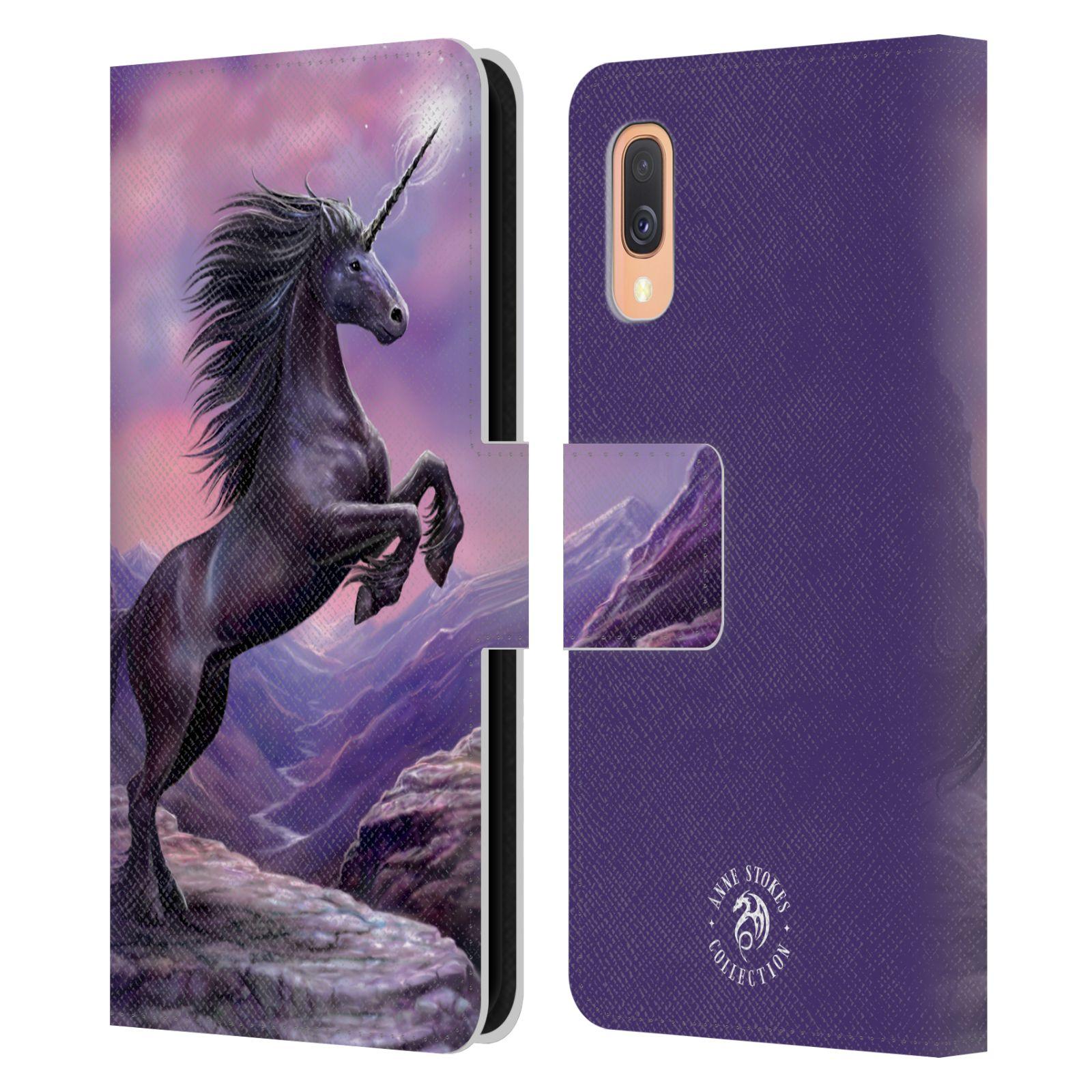 Pouzdro na mobil Samsung Galaxy A40 - Head Case - fantasy - černý jednorožec