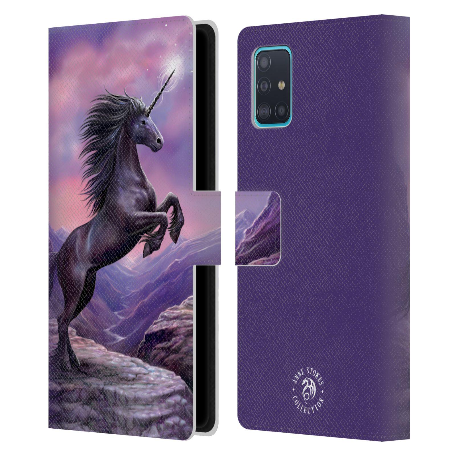 Pouzdro na mobil Samsung Galaxy A51 (A515F) - Head Case - fantasy - černý jednorožec