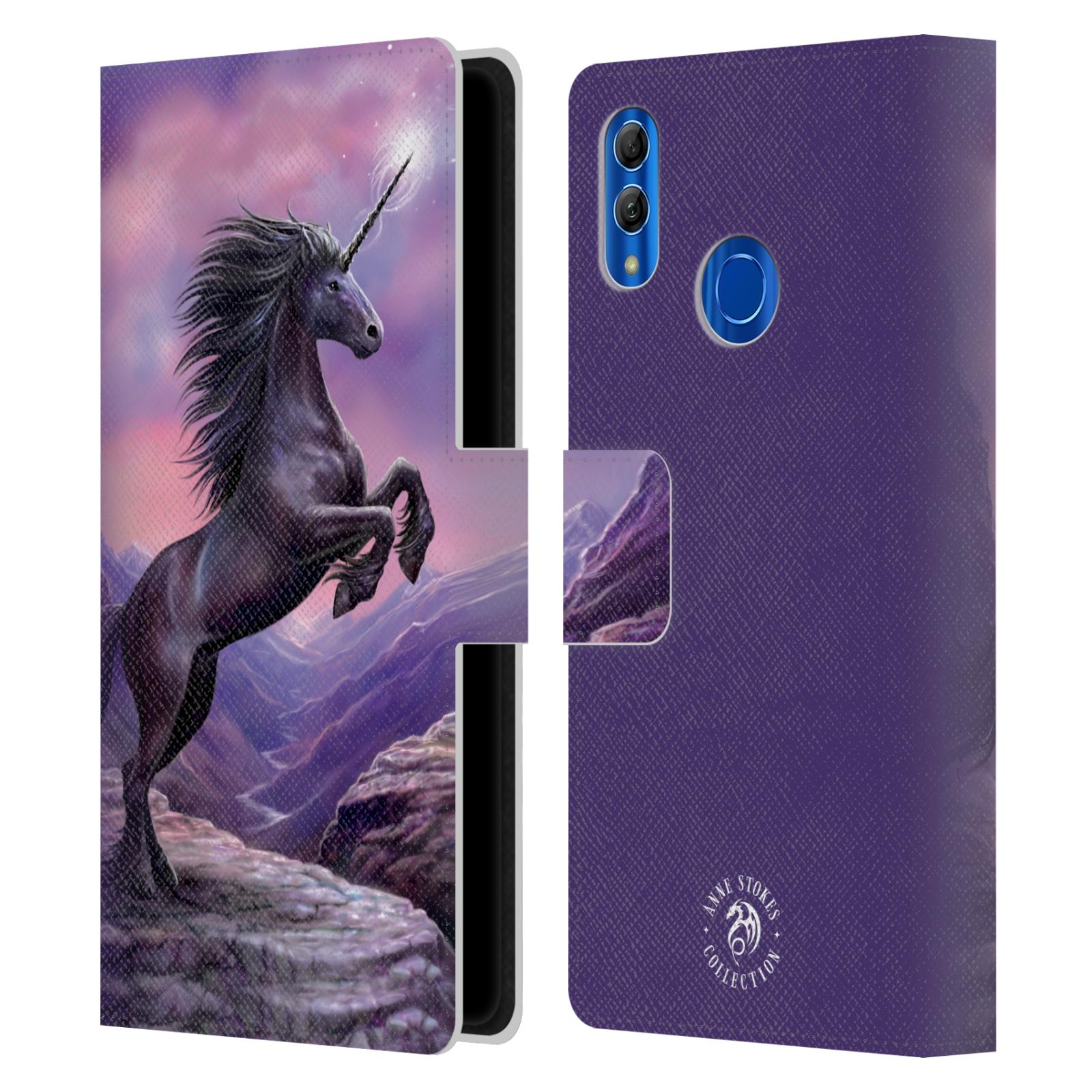 Pouzdro na mobil Honor 10 LITE - Head Case - fantasy - černý jednorožec