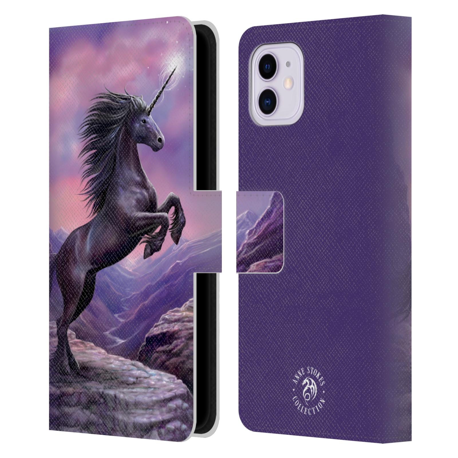 Pouzdro na mobil Apple Iphone 11 - Head Case - fantasy - černý jednorožec