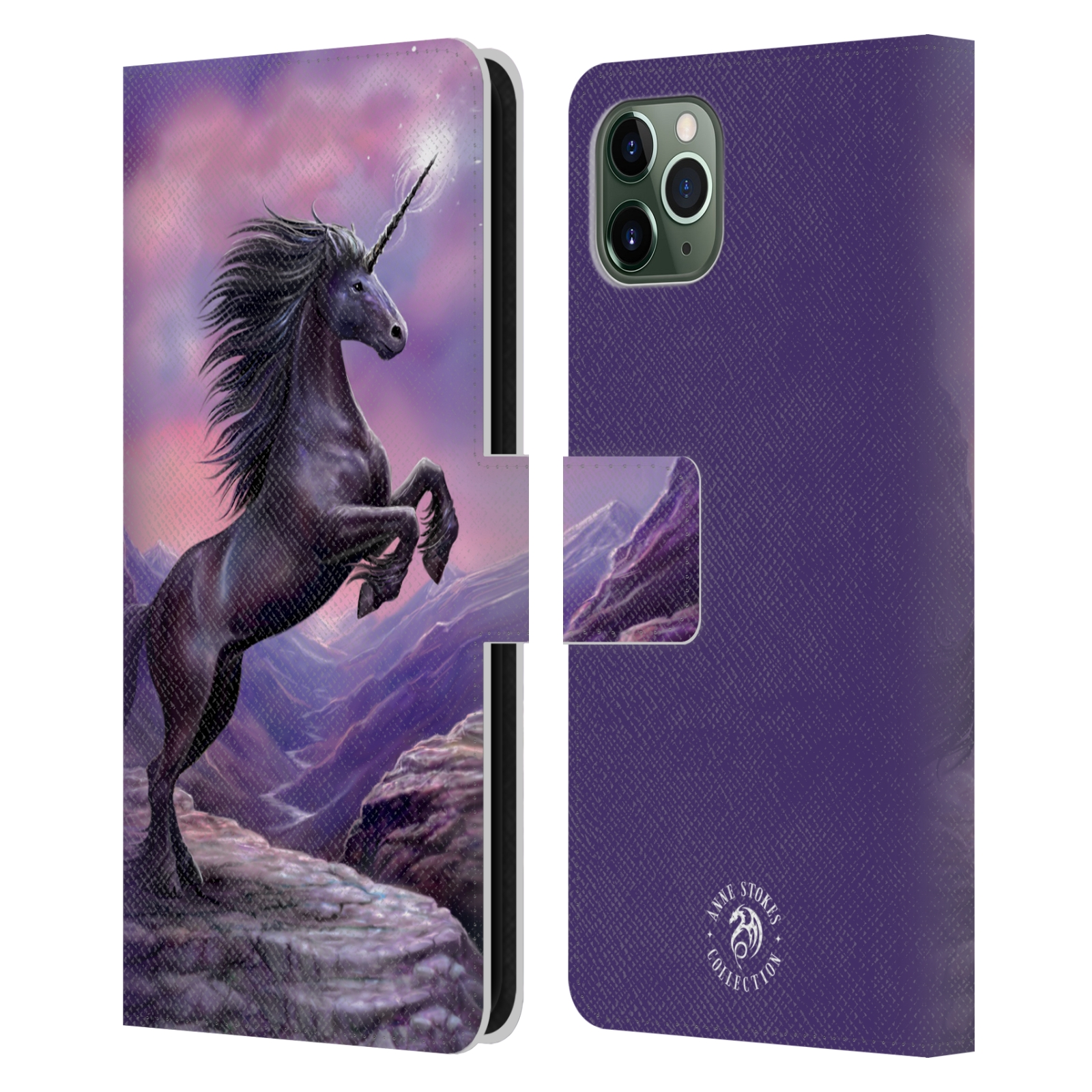 Pouzdro na mobil Apple Iphone 11 PRO MAX - Head Case - fantasy - černý jednorožec