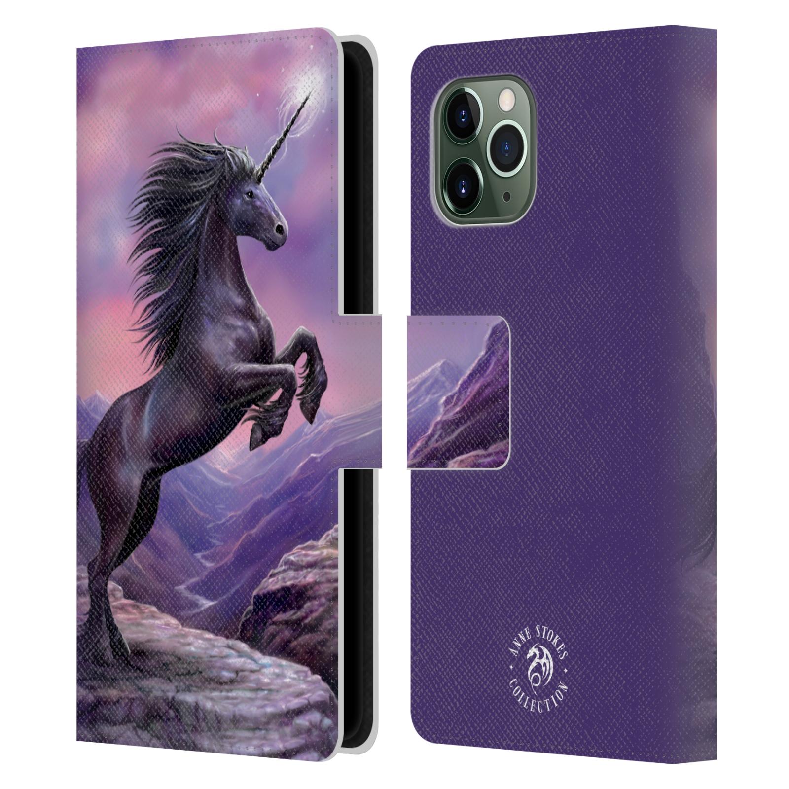 Pouzdro na mobil Apple Iphone 11 PRO - Head Case - fantasy - černý jednorožec