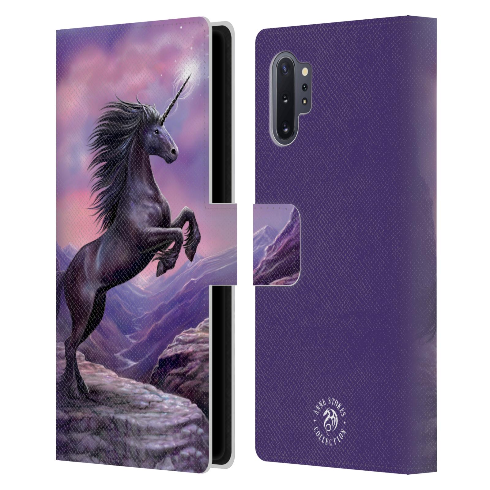 Pouzdro na mobil Samsung Galaxy Note 10+ - Head Case - fantasy - černý jednorožec