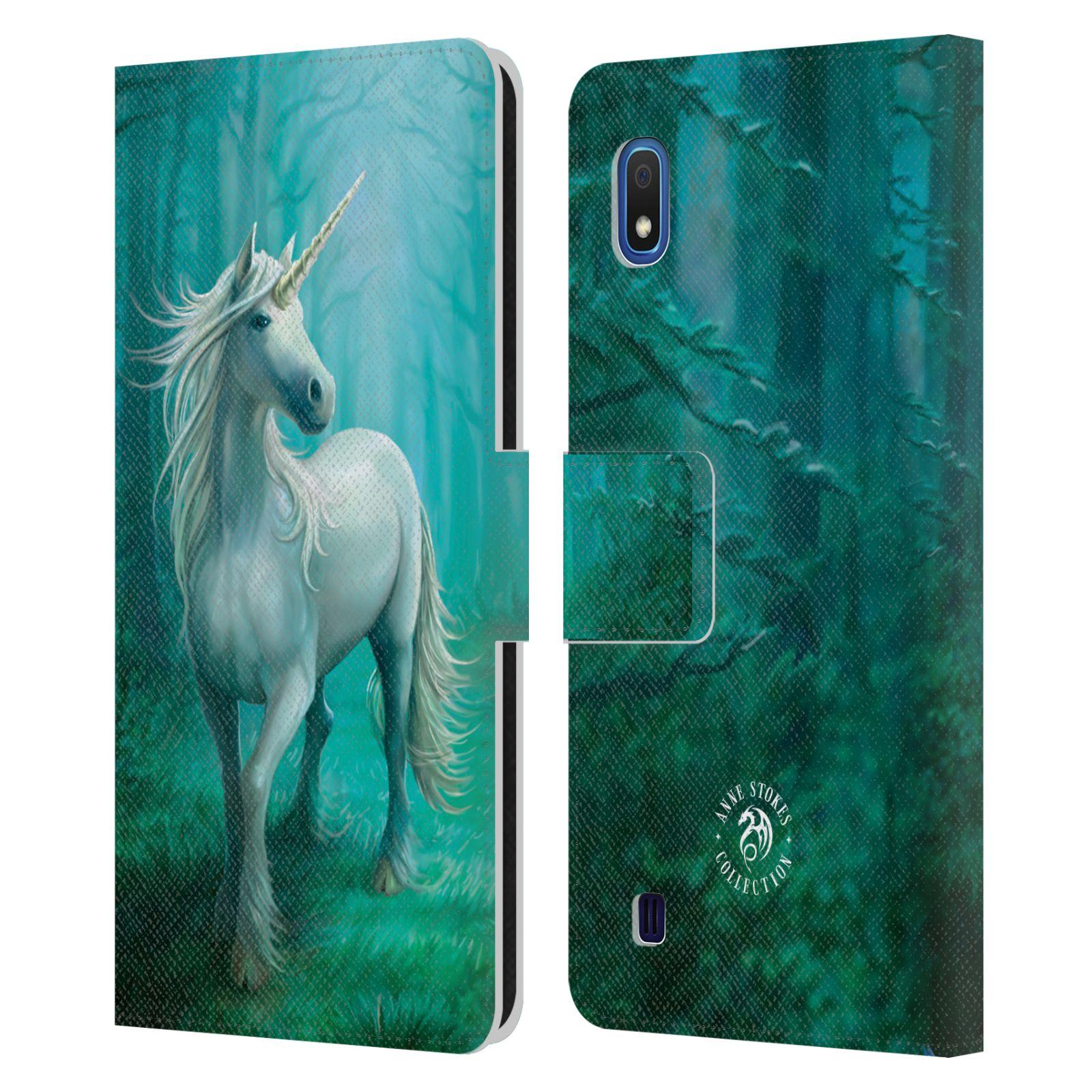 Pouzdro na mobil Samsung Galaxy A10 - Head Case - fantasy - jednorožec v lese