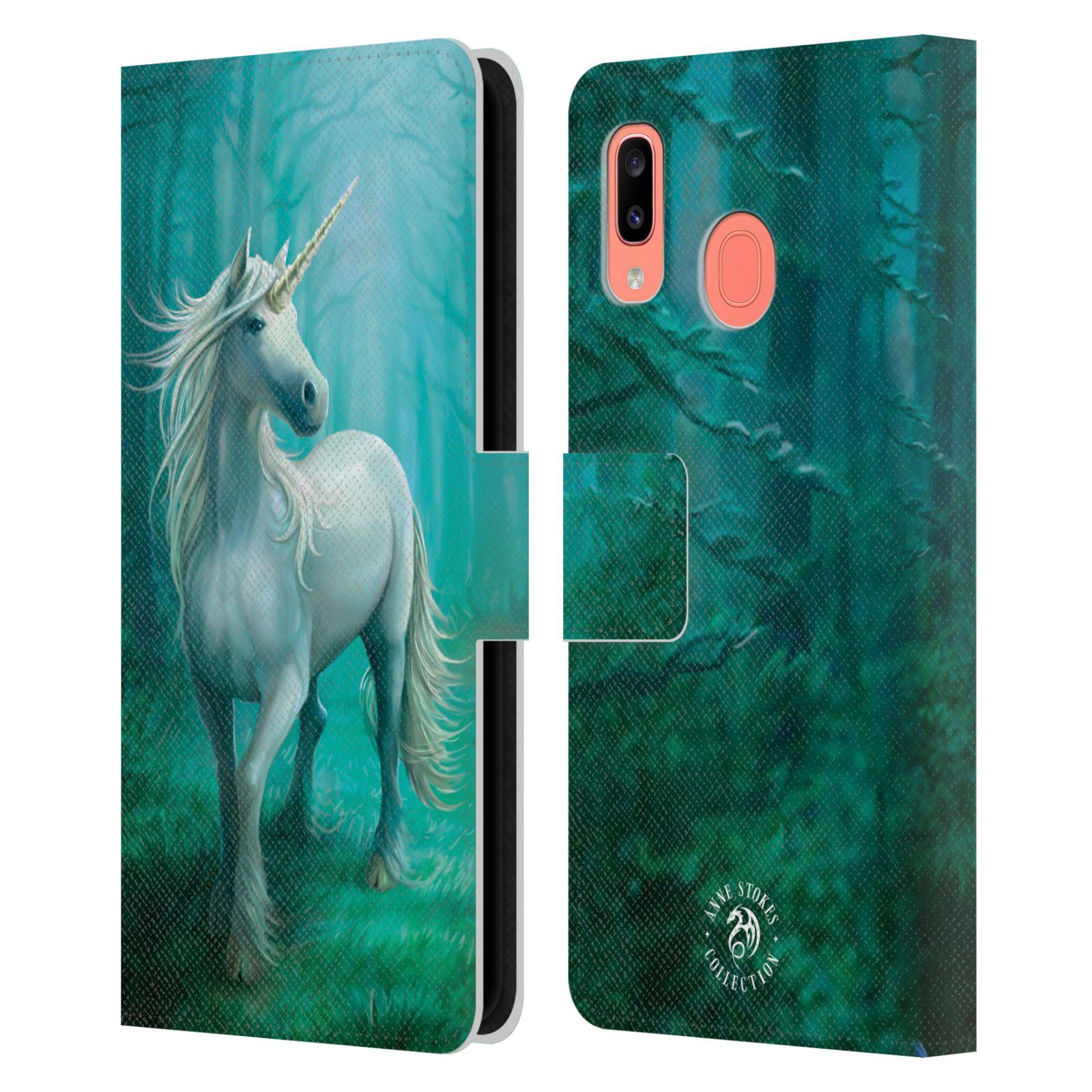 Pouzdro na mobil Samsung Galaxy A20 - Head Case - fantasy - jednorožec v lese