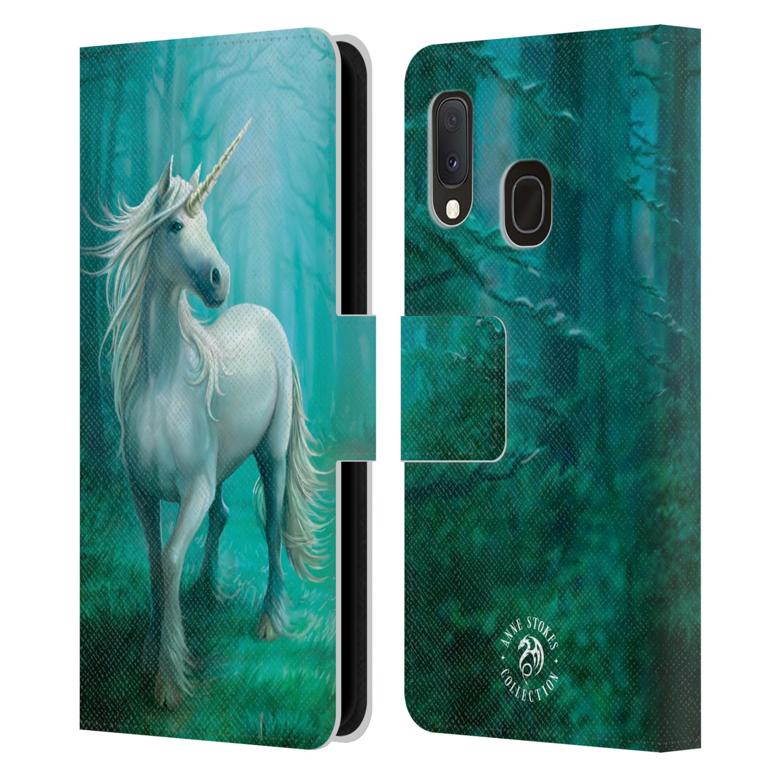 Pouzdro na mobil Samsung Galaxy A20e - Head Case - fantasy - jednorožec v lese