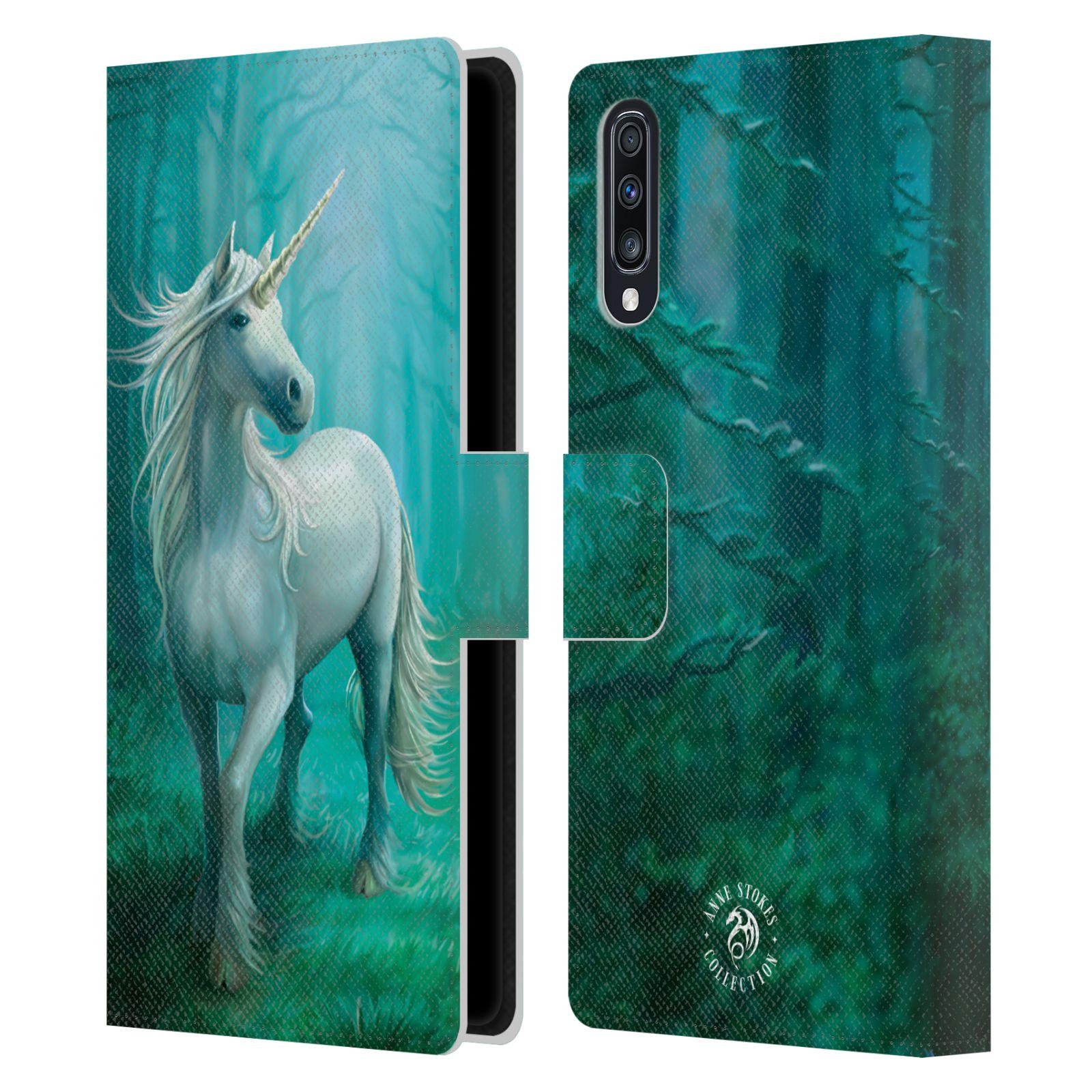 Pouzdro na mobil Samsung Galaxy A70 - Head Case - fantasy - jednorožec v lese