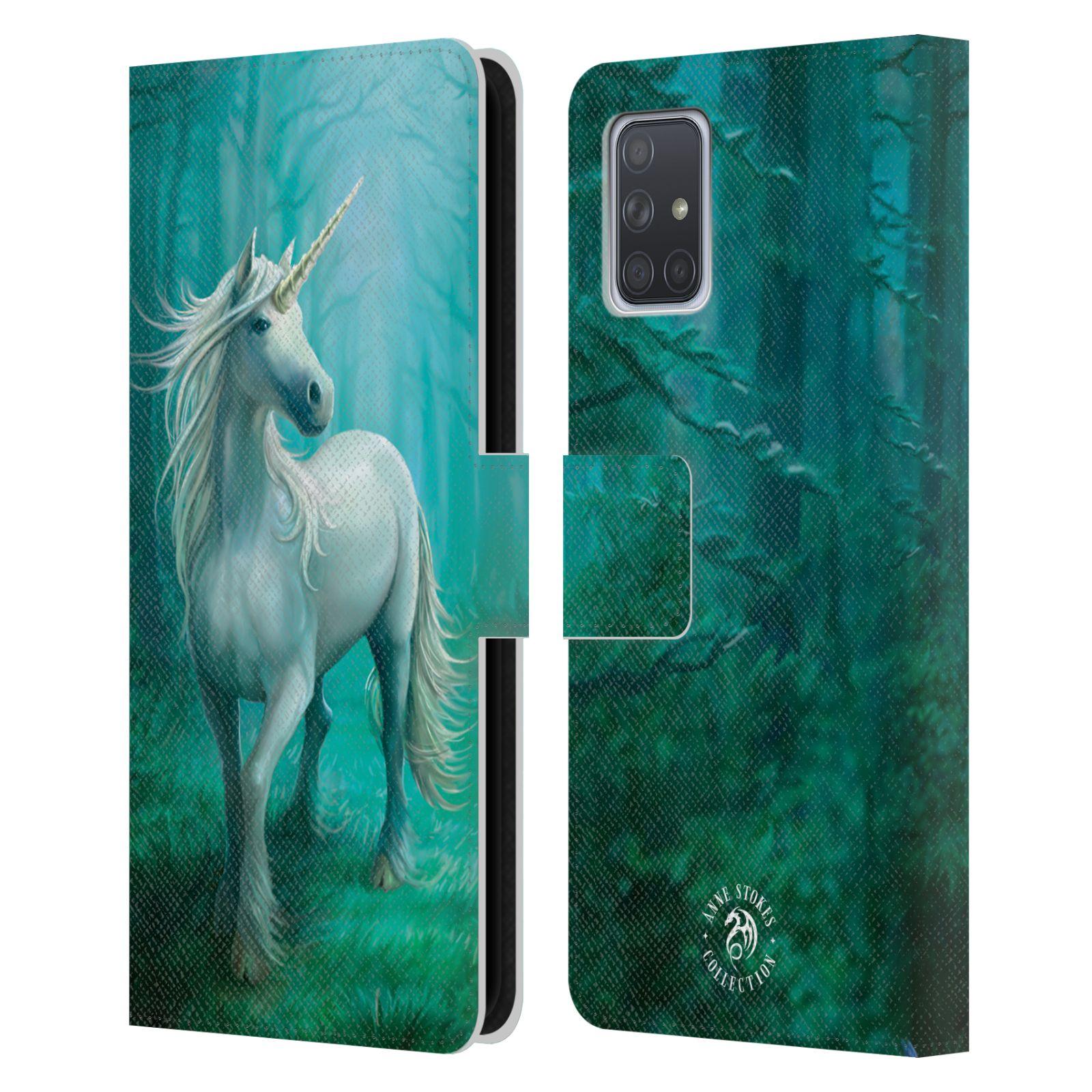 Pouzdro na mobil Samsung Galaxy A71 - Head Case - fantasy - jednorožec v lese