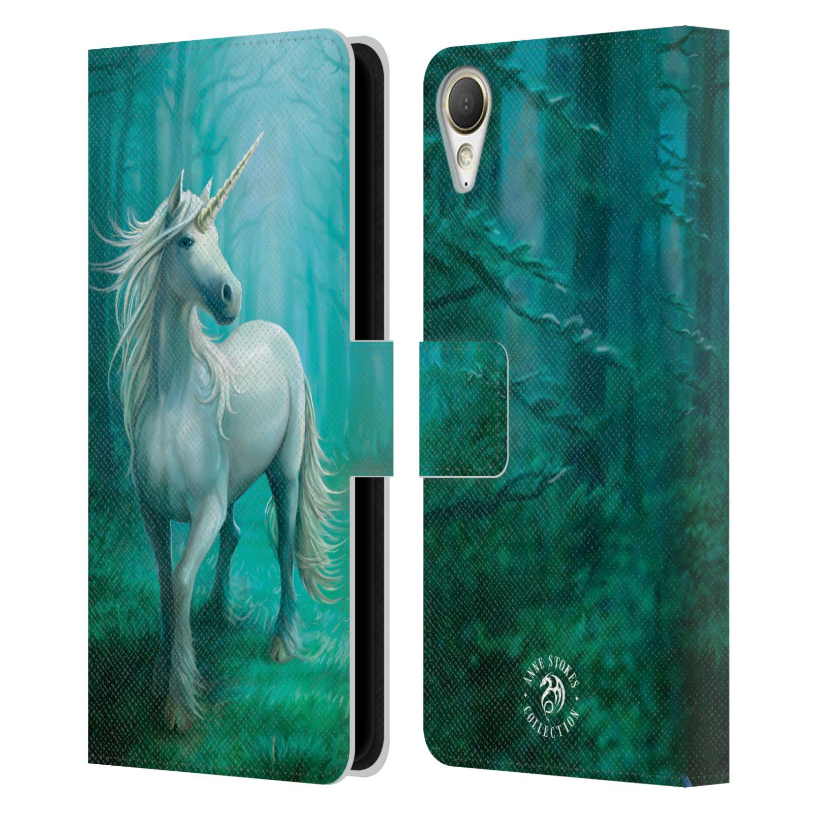 Pouzdro na mobil HTC Desire 10 Lifestyle - Head Case - fantasy - jednorožec v lese