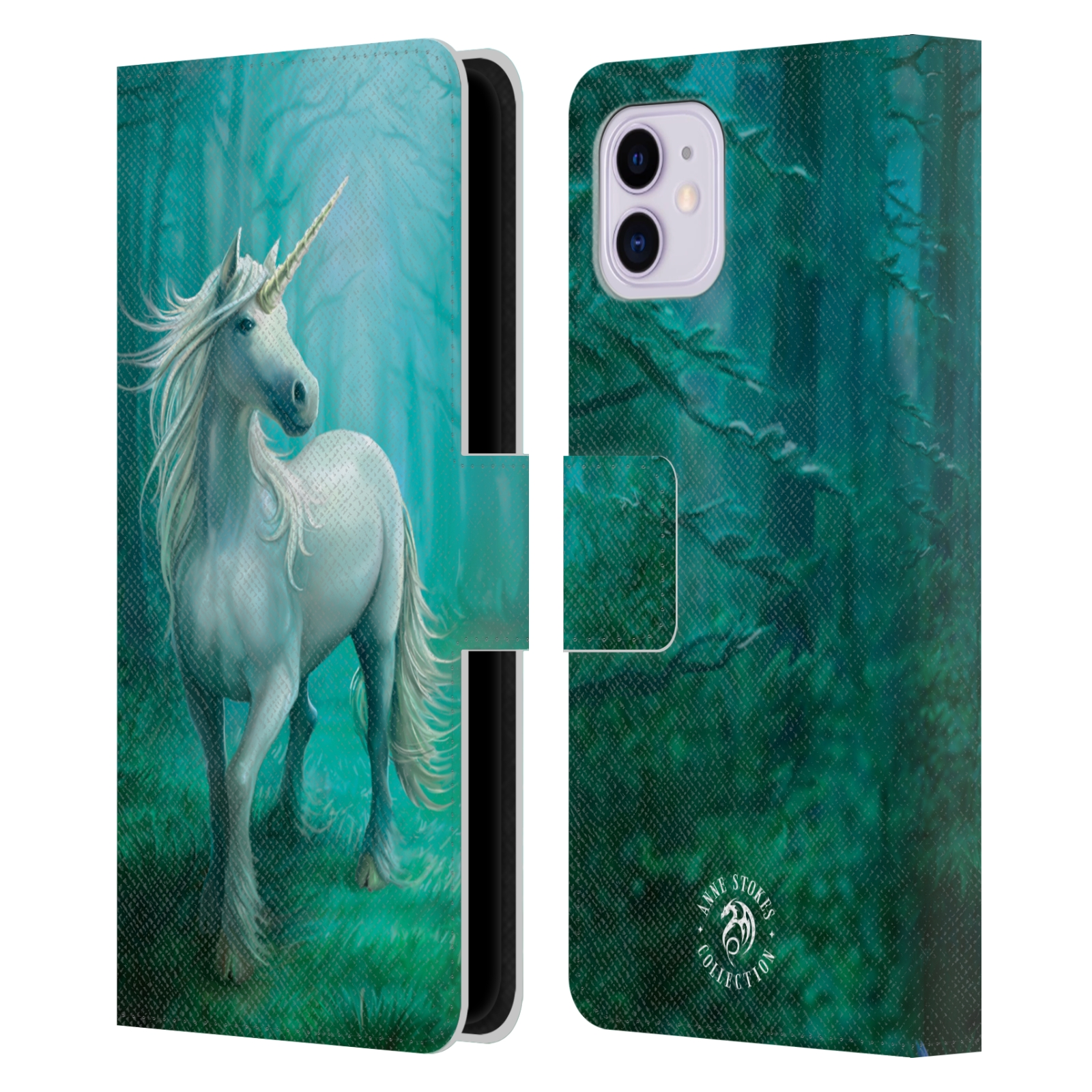 Pouzdro na mobil Apple Iphone 11 - Head Case - fantasy - jednorožec v lese