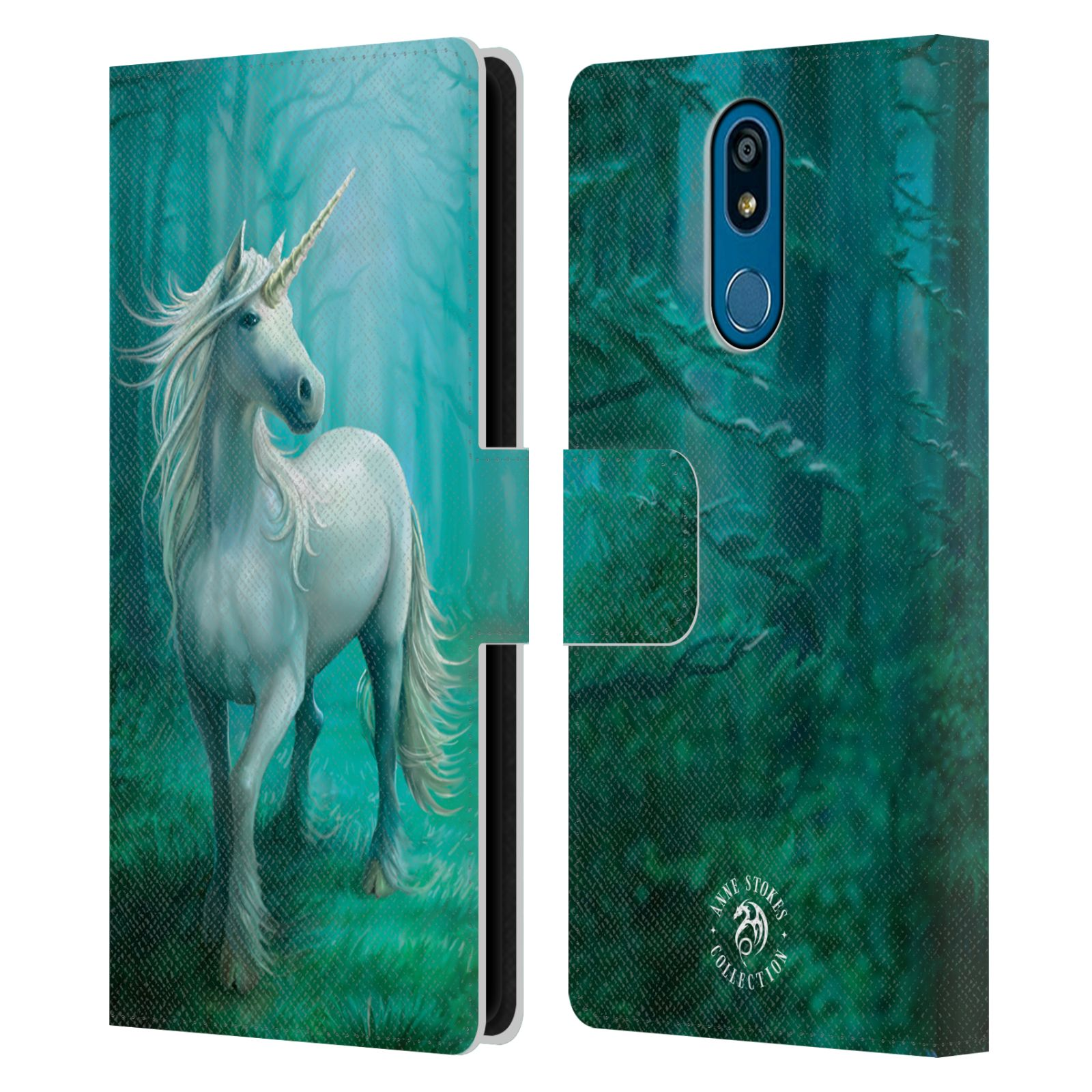 Pouzdro na mobil LG K40 - Head Case - fantasy - jednorožec v lese