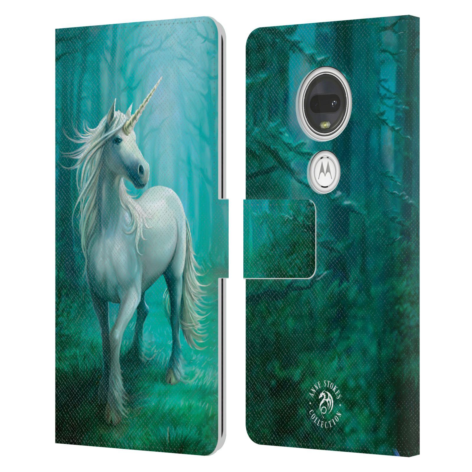 Pouzdro na mobil Motorola Moto G7 - Head Case - fantasy - jednorožec v lese