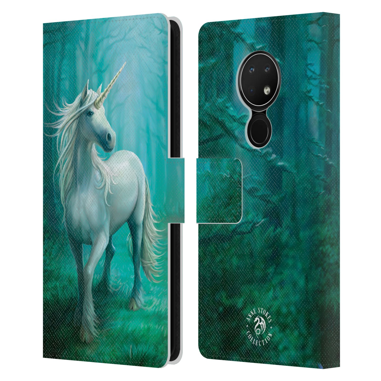 Pouzdro na mobil Nokia 6.2 - Head Case - fantasy - jednorožec v lese