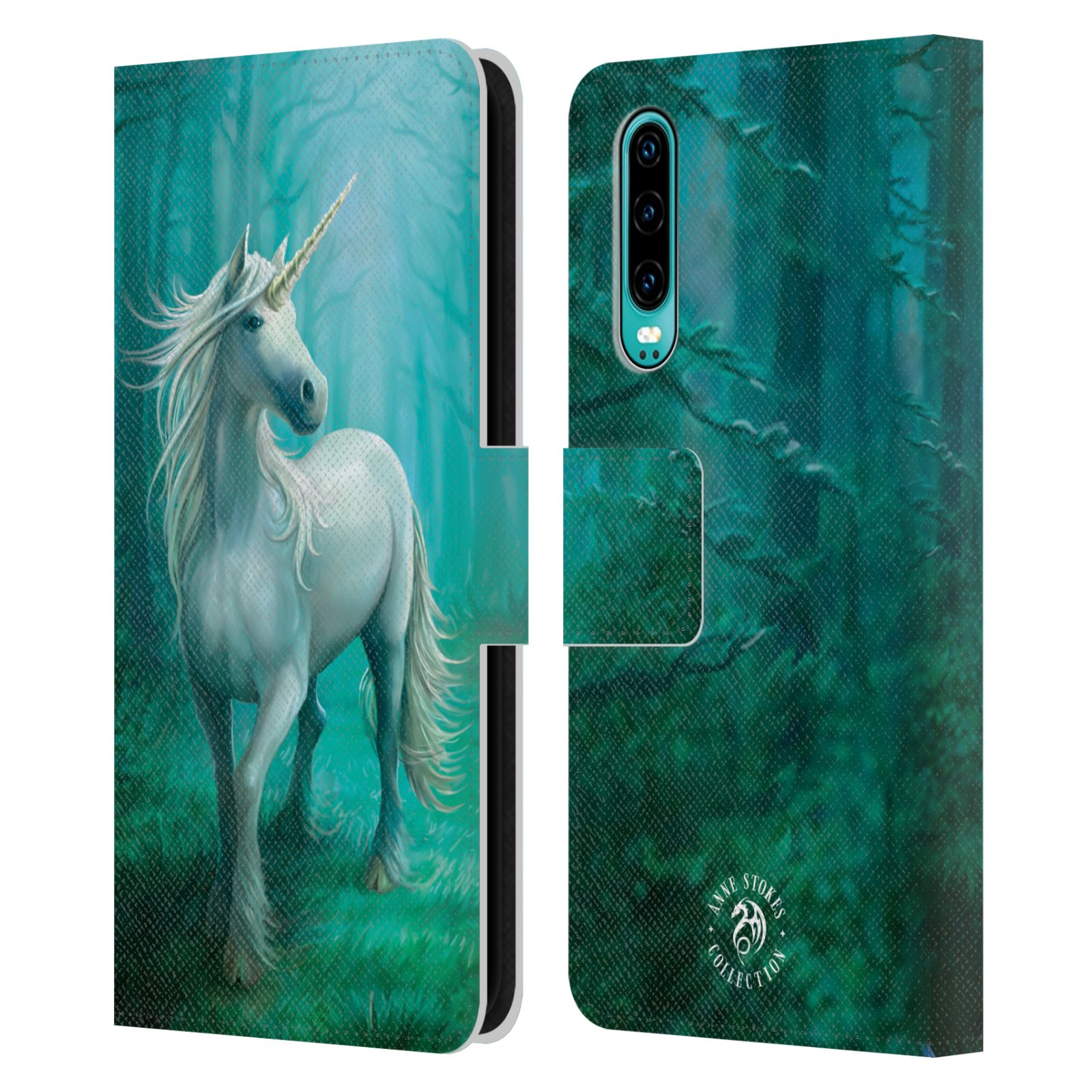 Pouzdro na mobil Huawei P30 - Head Case - fantasy - jednorožec v lese