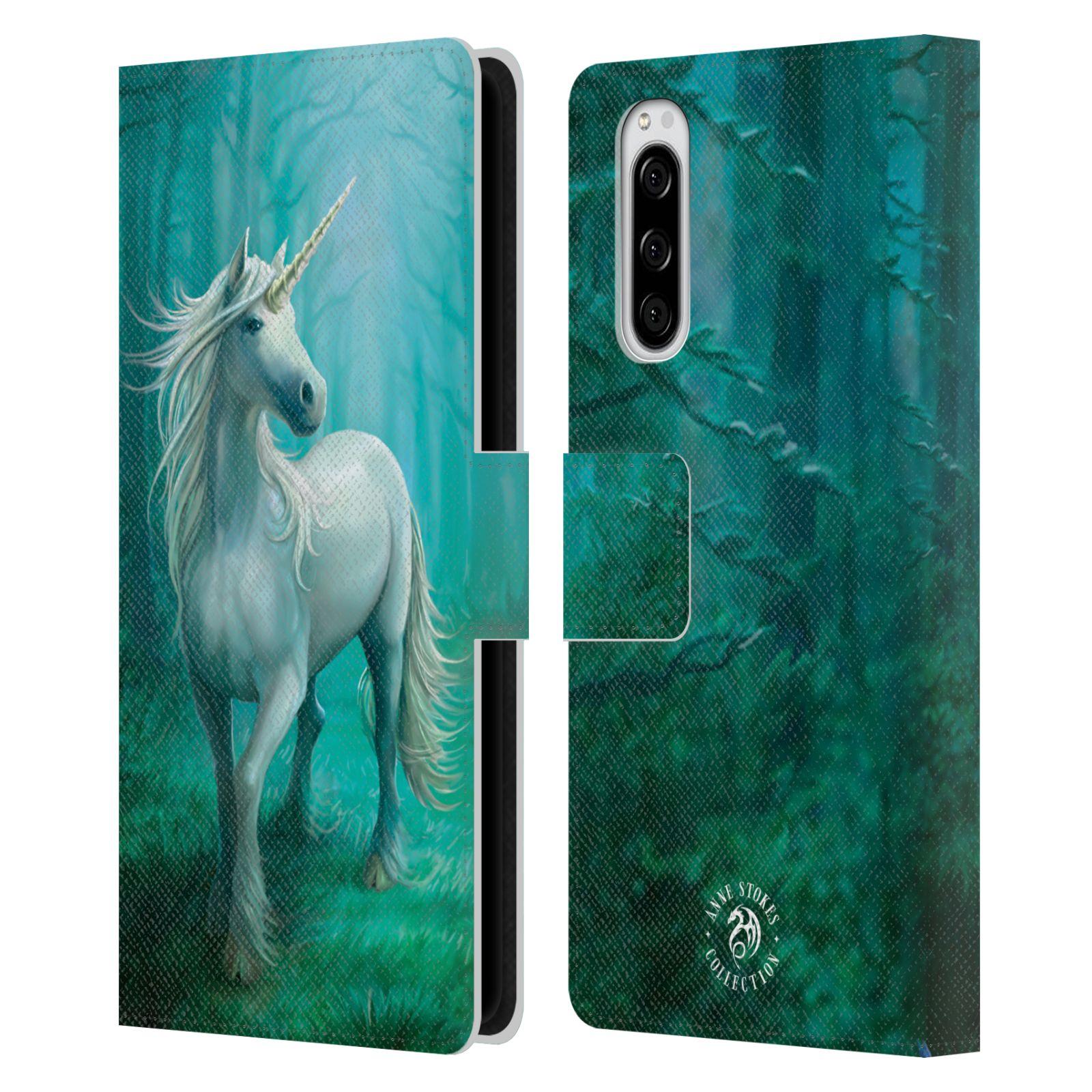 Pouzdro na mobil Sony Xperia 5 - Head Case - fantasy - jednorožec v lese
