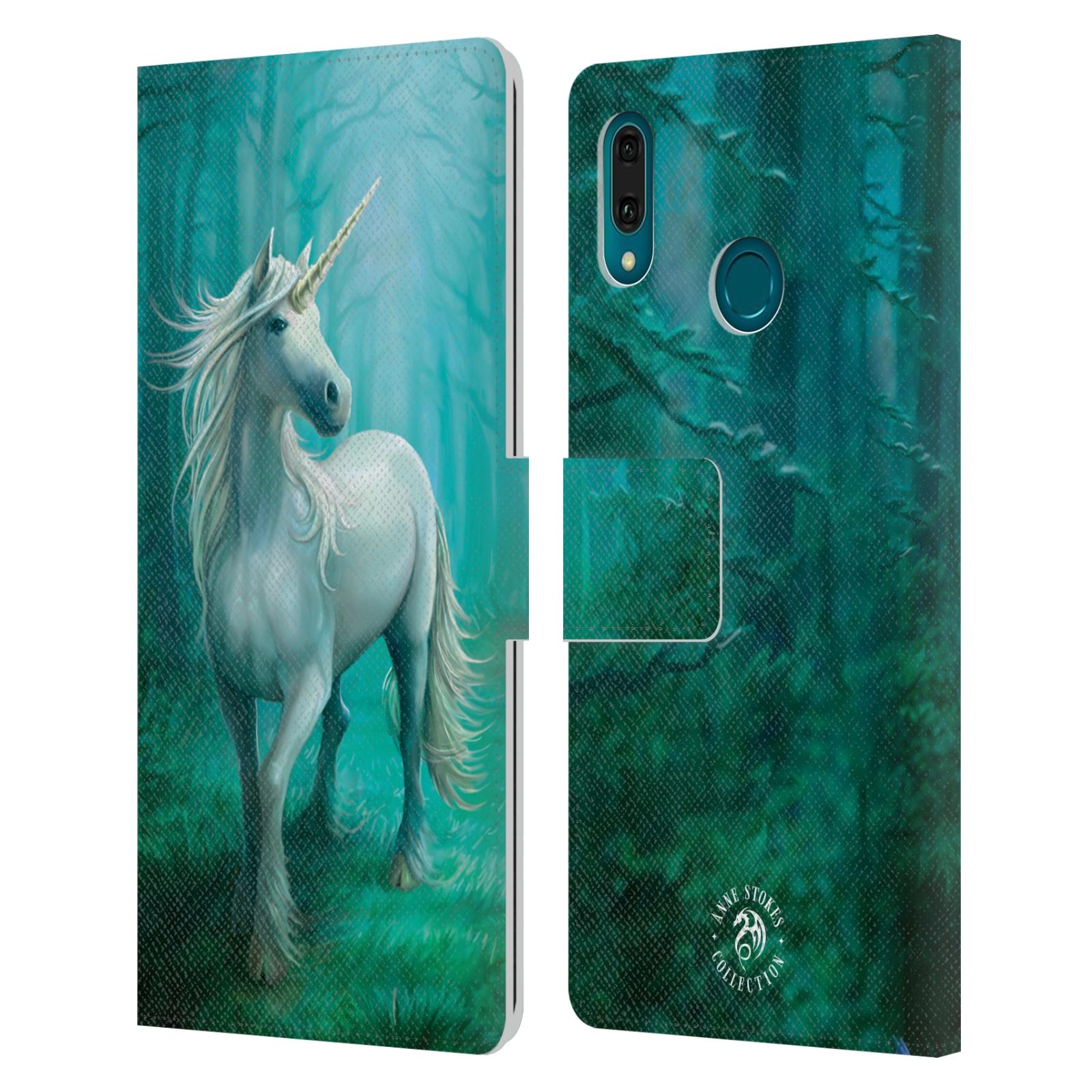 Pouzdro na mobil Huawei Y9 2019 - Head Case - fantasy - jednorožec v lese