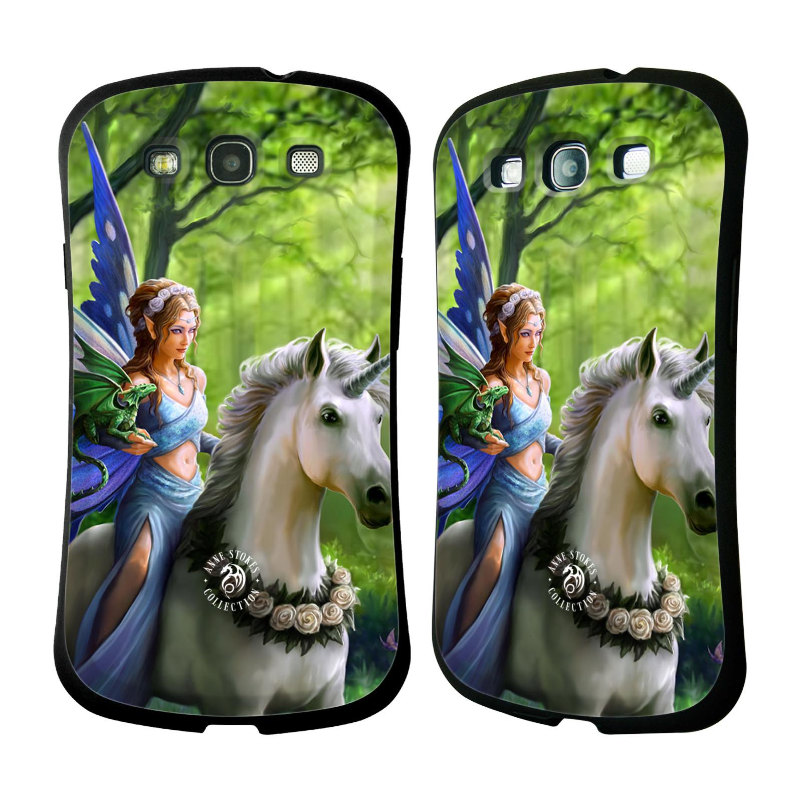 HEAD CASE silikon/plast odolný obal na mobil Samsung Galaxy S3 i9300 / S3 NEO Anne Stokes žena elf na koni