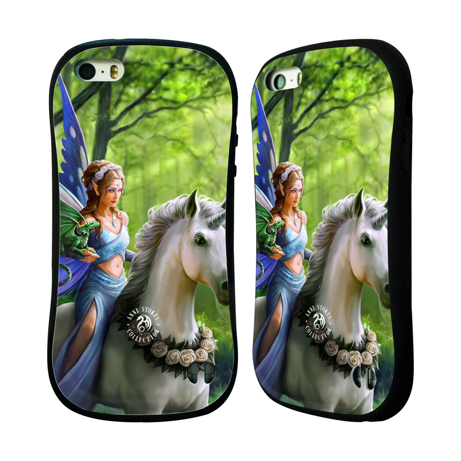 HEAD CASE silikon/plast odolný obal na mobil Apple Iphone 5 / 5S Anne Stokes žena elf na koni