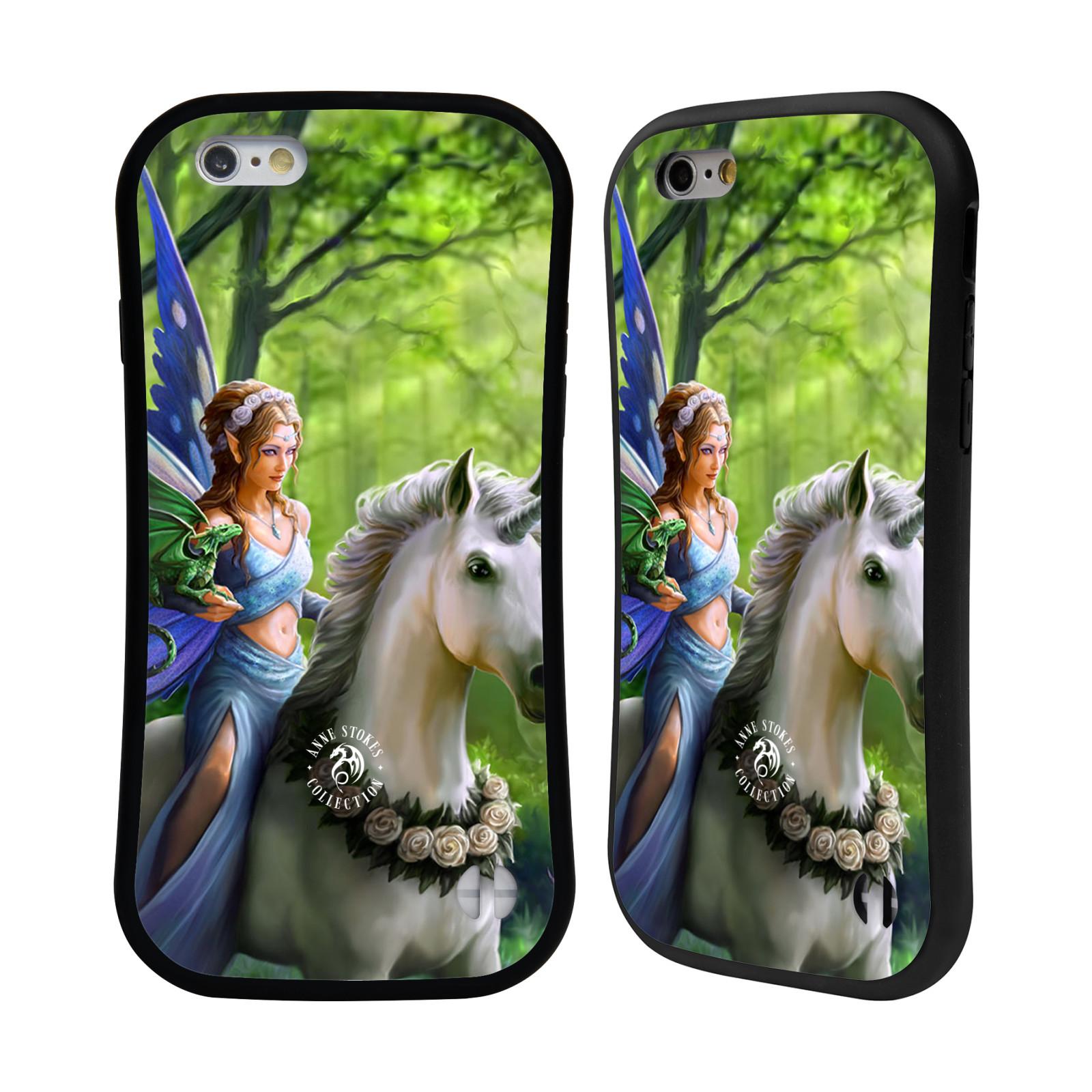 HEAD CASE silikon/plast odolný obal na mobil Apple Iphone 6/6S Anne Stokes žena elf na koni
