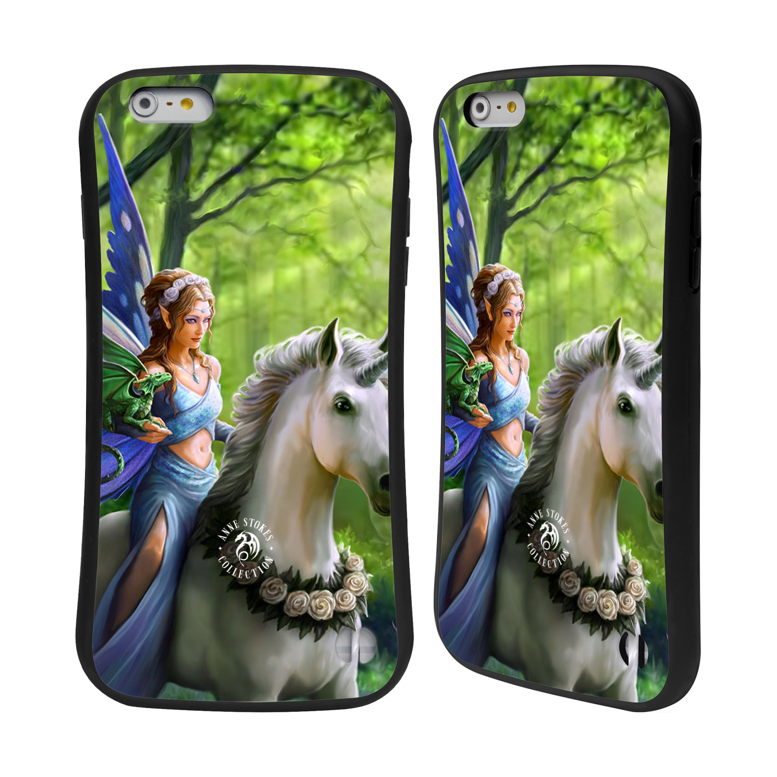 HEAD CASE silikon/plast odolný obal na mobil Apple Iphone 6 PLUS / 6S PLUS Anne Stokes žena elf na koni
