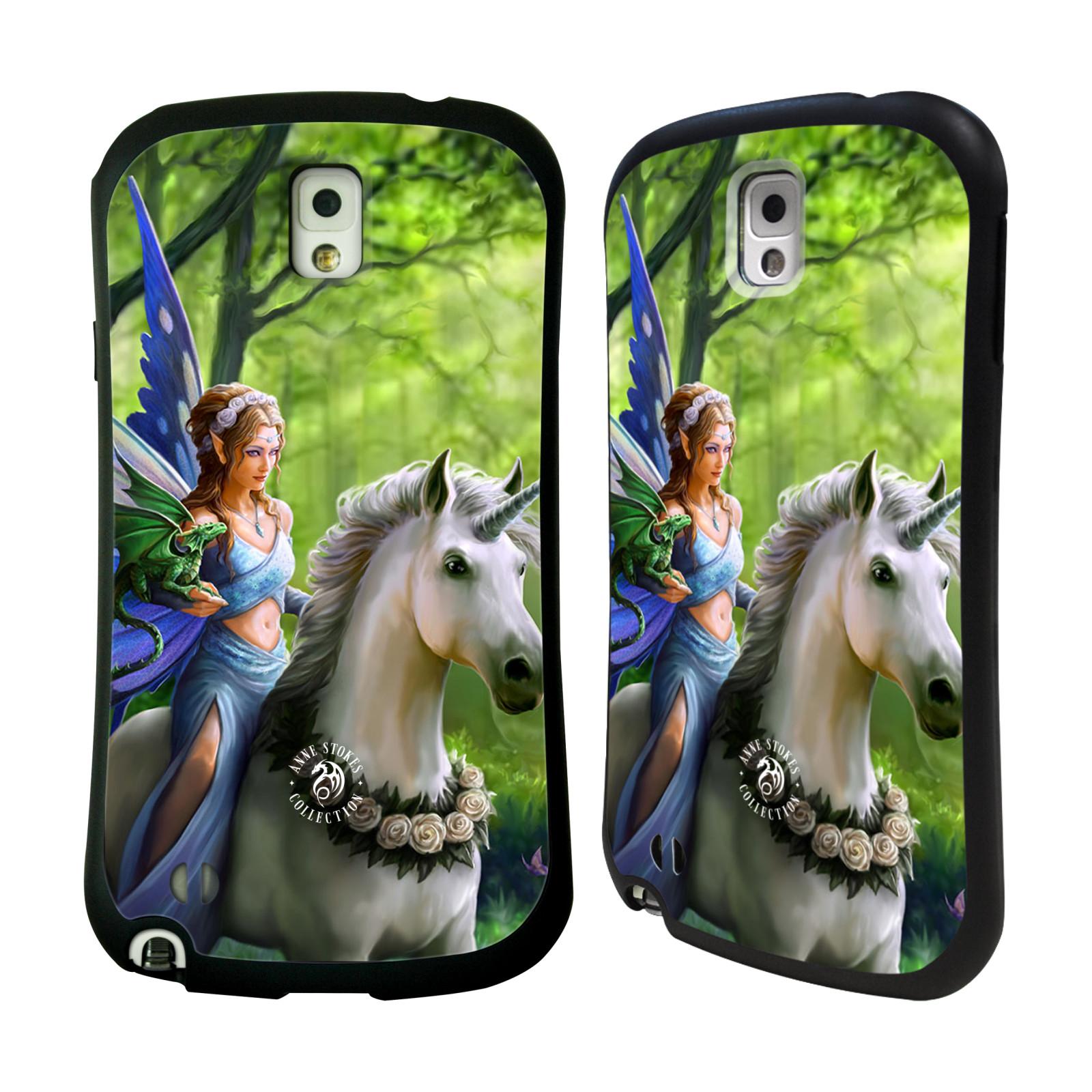 HEAD CASE silikon/plast odolný obal na mobil Samsung Galaxy NOTE 3 (N9005) Anne Stokes žena elf na koni