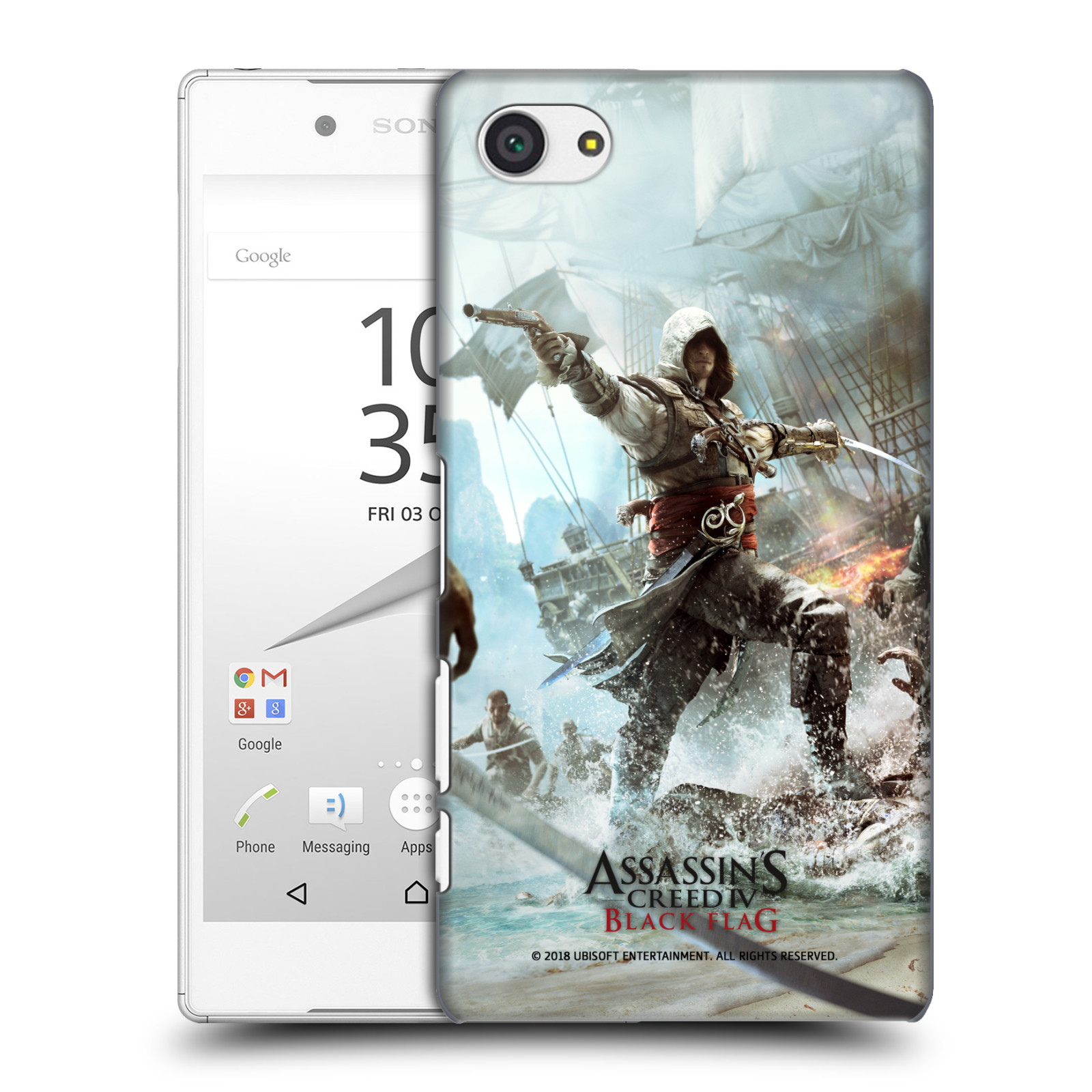 Pouzdro na mobil Sony Xperia Z5 COMPACT - HEAD CASE - Assasins Creed Black Flag - Edward v boji