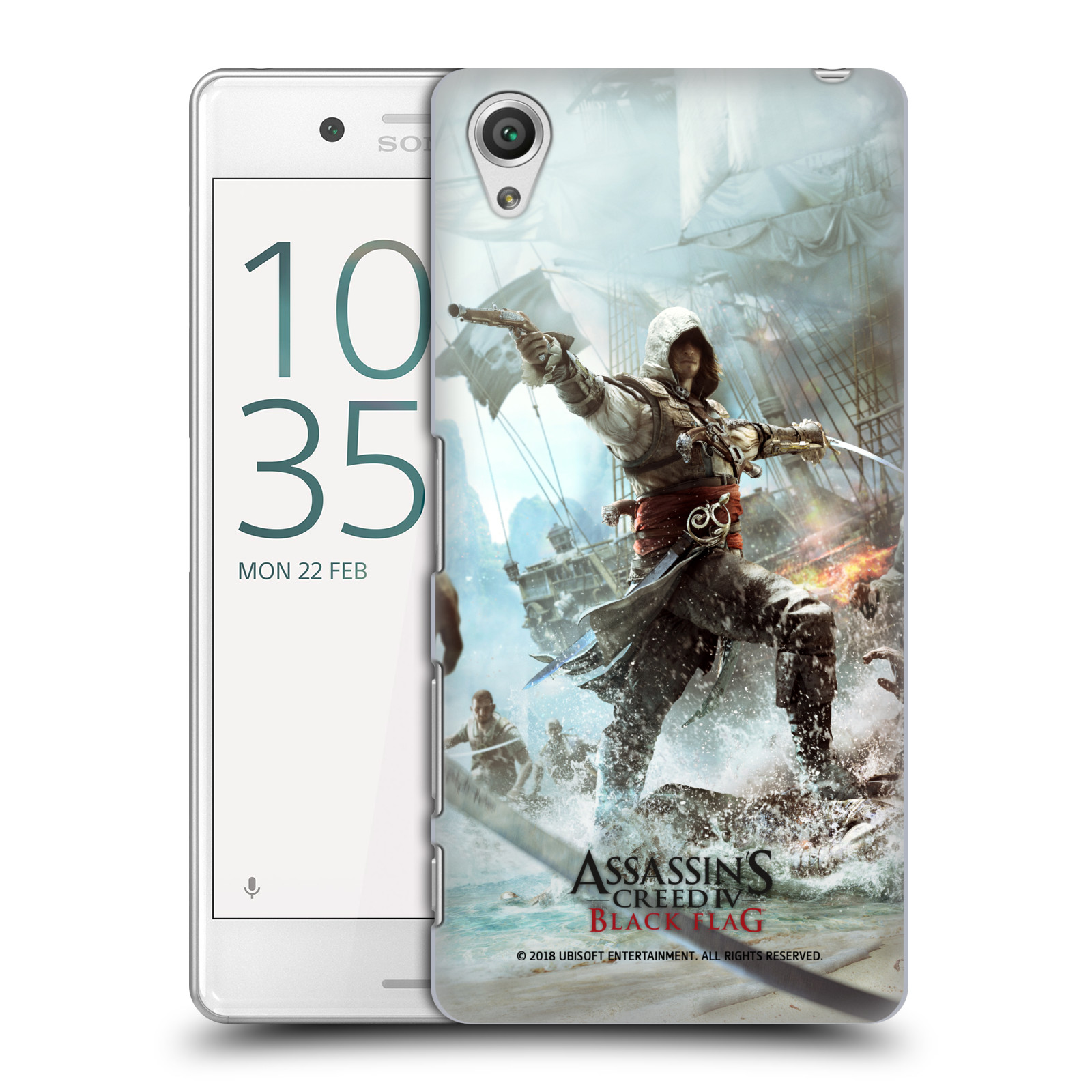 Pouzdro na mobil Sony Xperia X PERFORMANCE - HEAD CASE - Assasins Creed Black Flag - Edward v boji