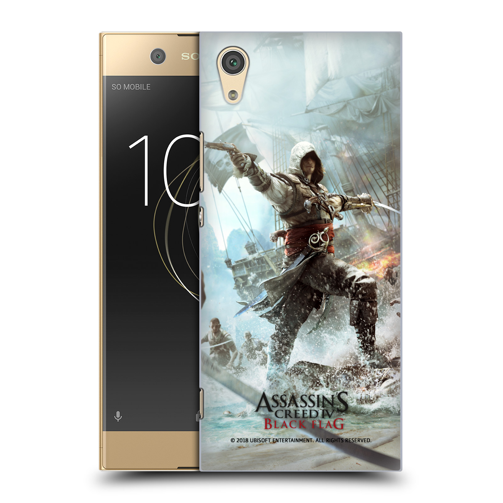 Pouzdro na mobil Sony Xperia XA1 - HEAD CASE - Assasins Creed Black Flag - Edward v boji