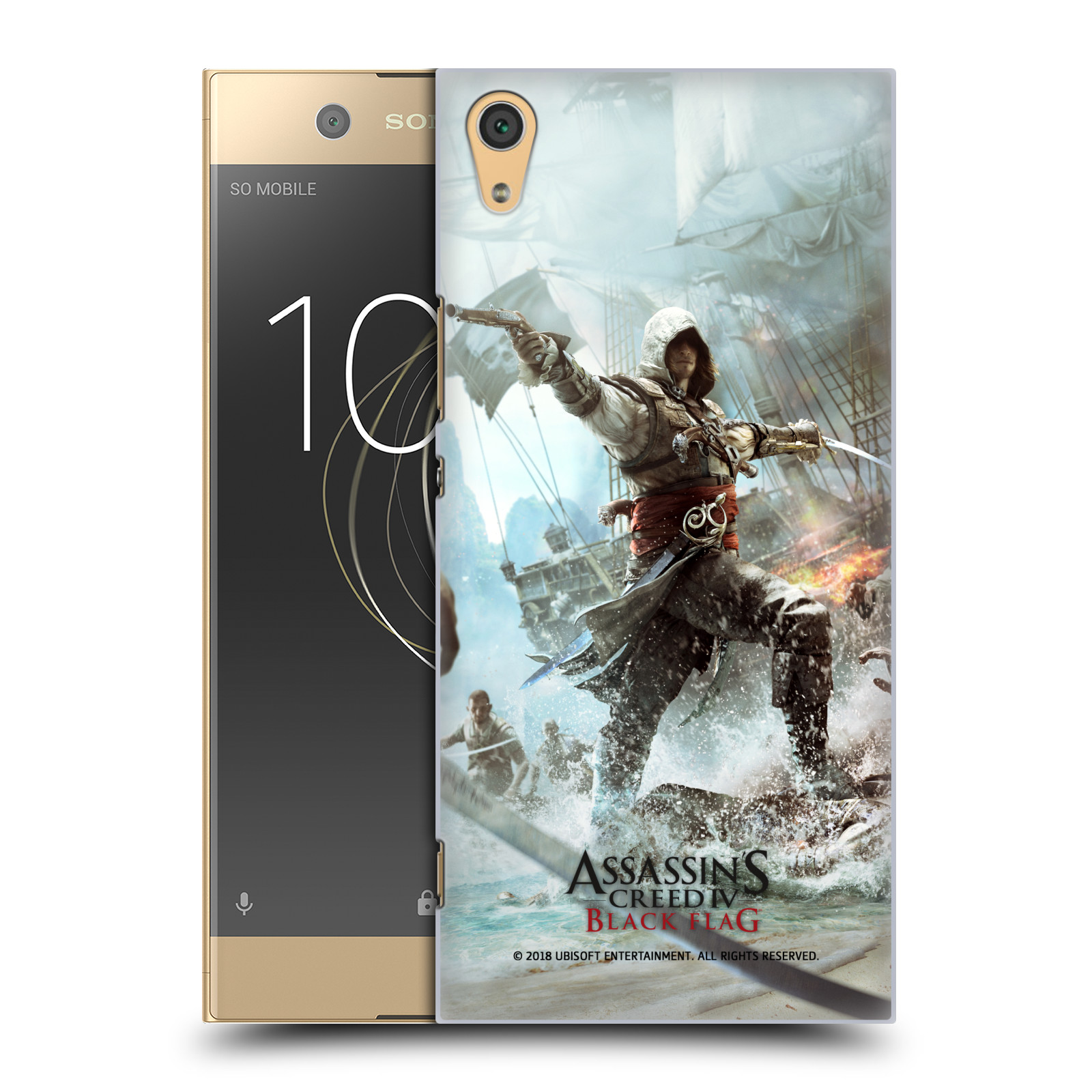 Pouzdro na mobil Sony Xperia XA1 ULTRA - HEAD CASE - Assasins Creed Black Flag - Edward v boji
