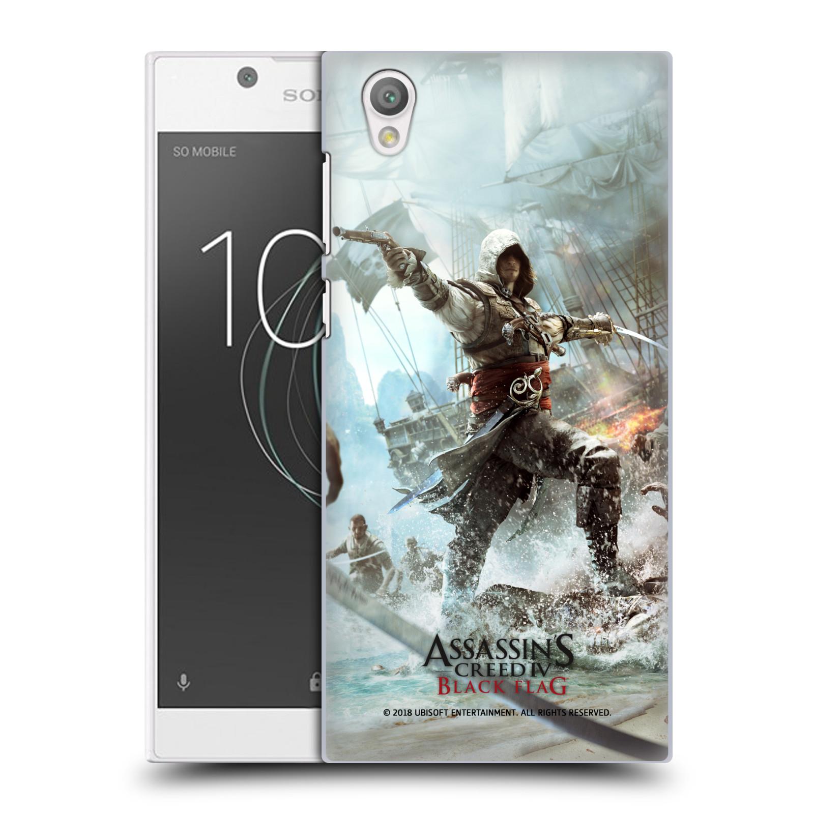Pouzdro na mobil Sony Xperia L1 - HEAD CASE - Assasins Creed Black Flag - Edward v boji