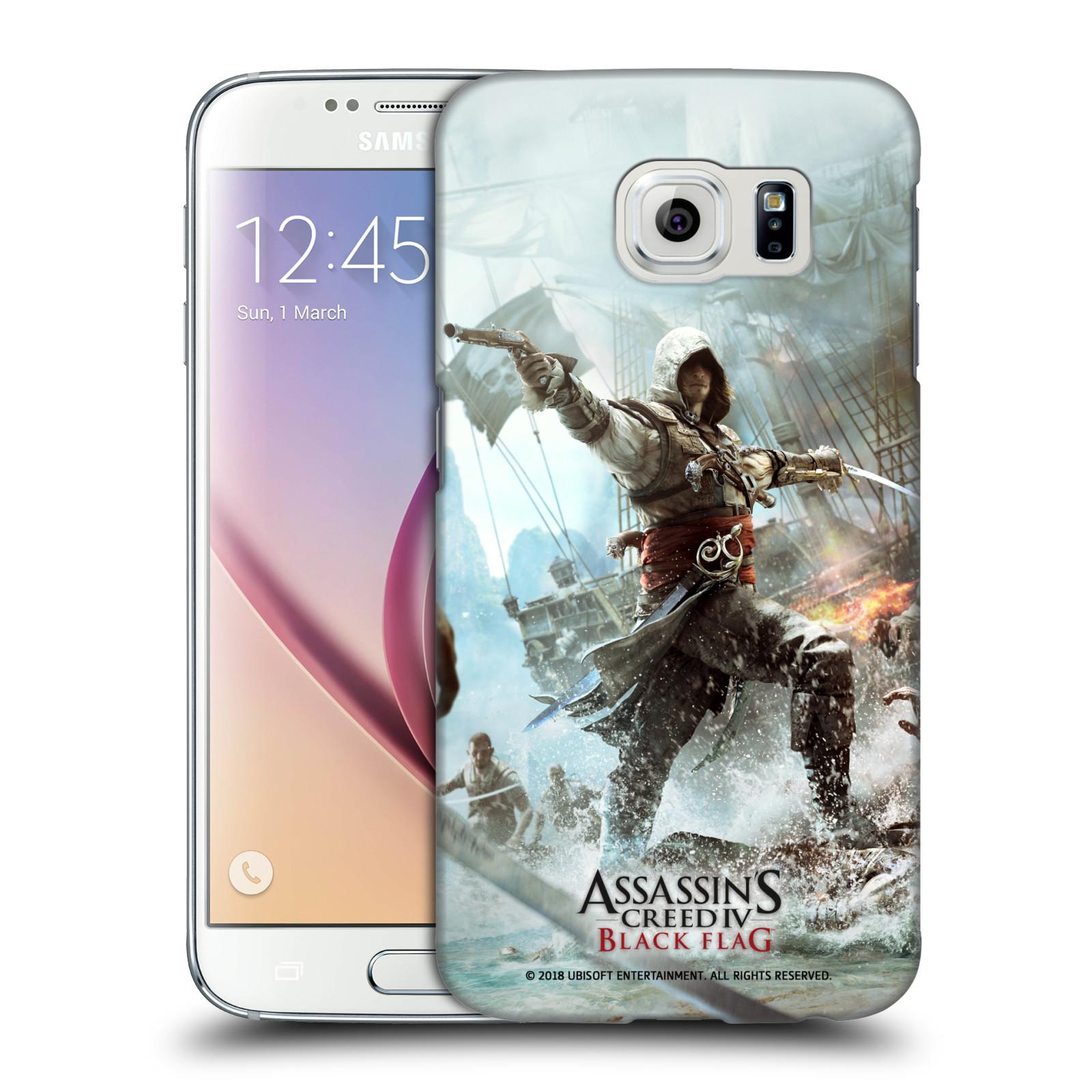 Pouzdro na mobil Samsung Galaxy S6 - HEAD CASE - Assasins Creed Black Flag - Edward v boji