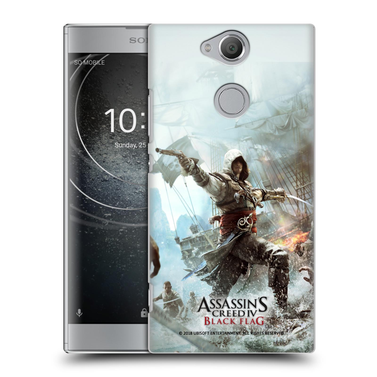 Pouzdro na mobil Sony Xperia XA2 - HEAD CASE - Assasins Creed Black Flag - Edward v boji